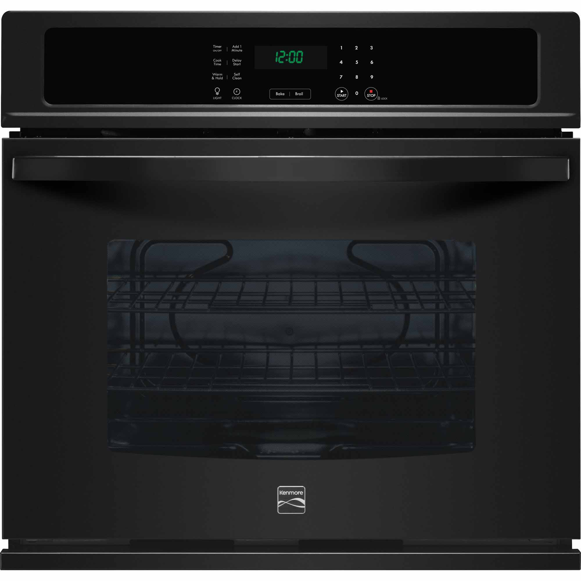 Kenmore 49409 27 Electric Self-Clean Single Wall Oven - Black