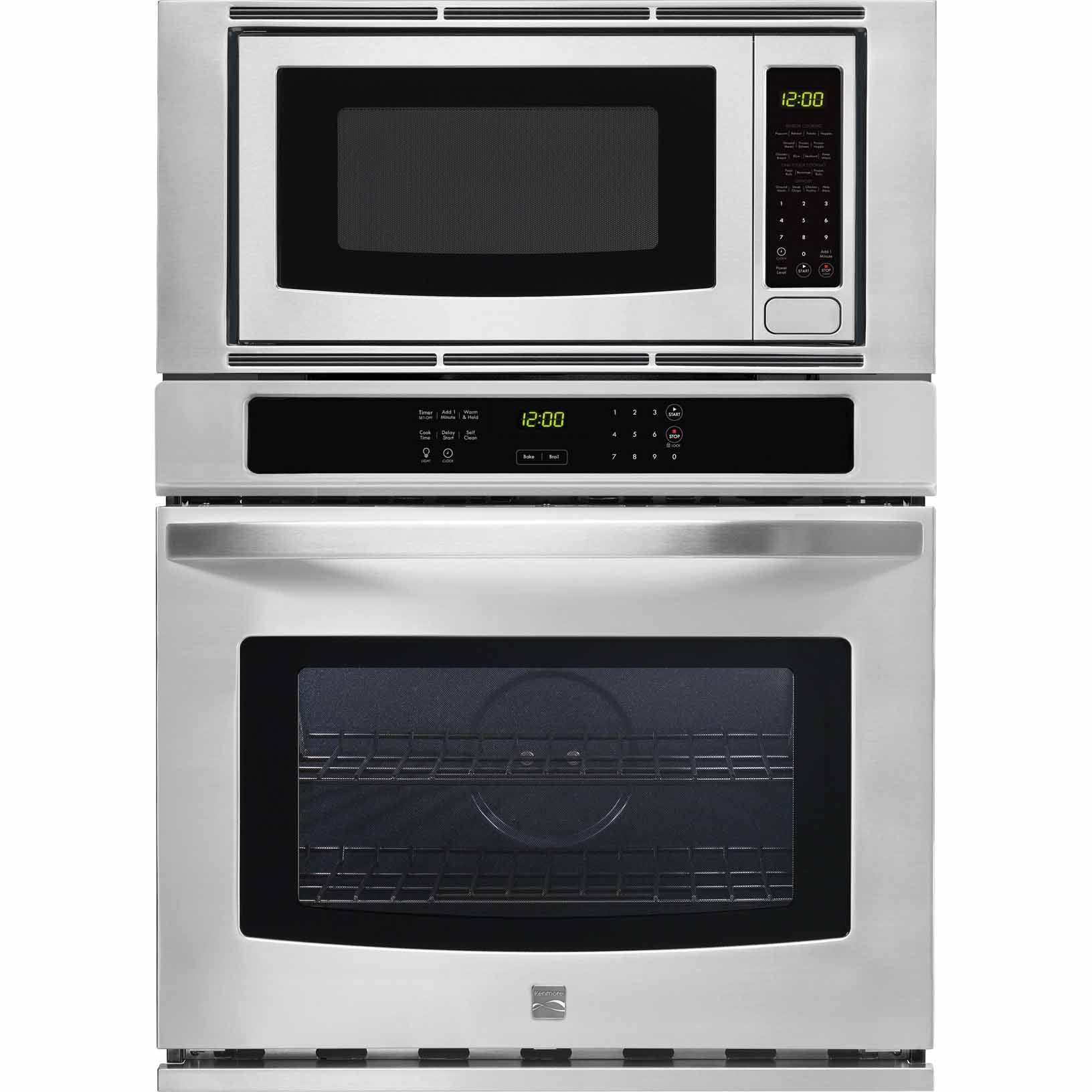 Kenmore 49613 30 Electric Combination Wall Oven - Stainless Steel