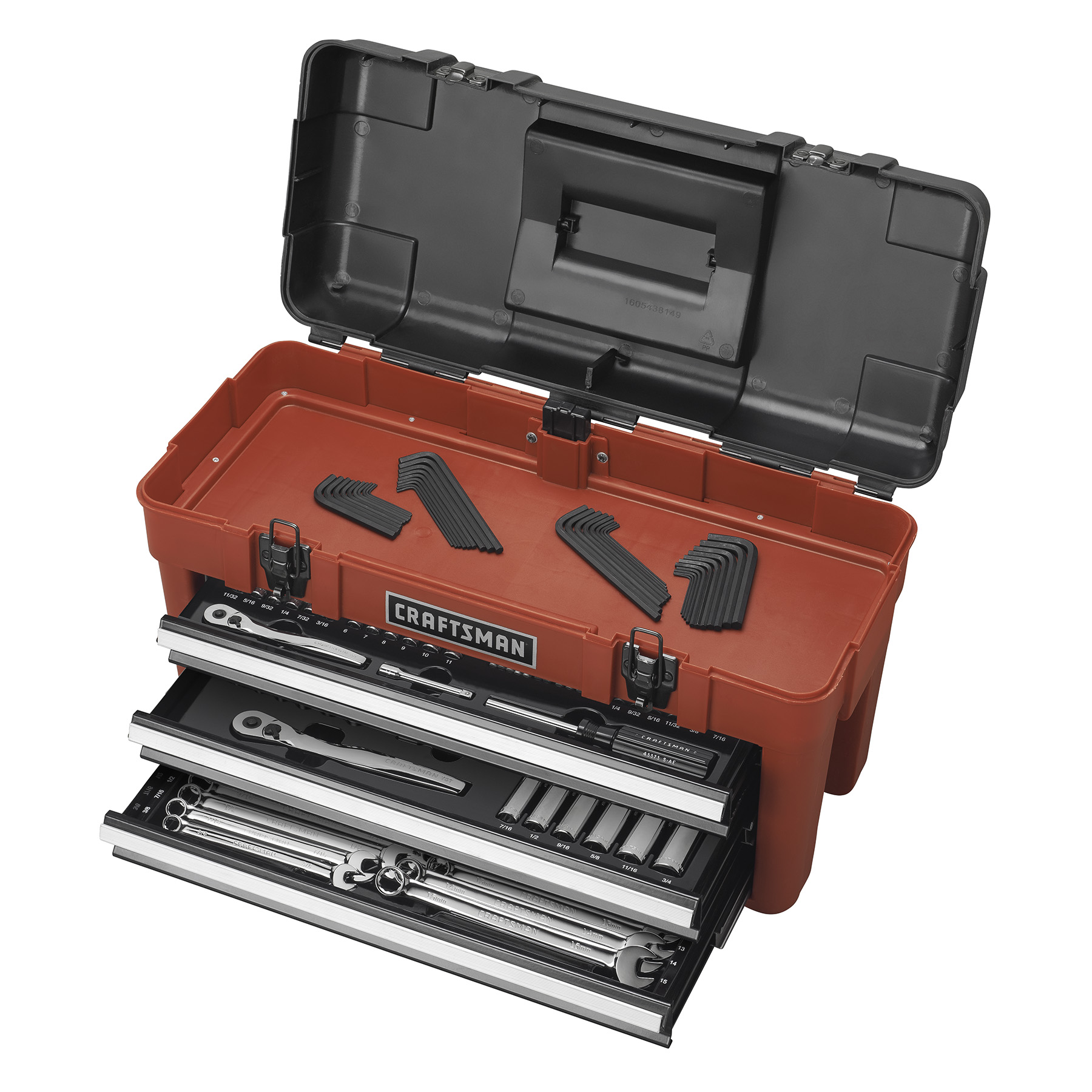 Craftsman 185-Piece Mechanics Tool Set with 3-Drawer Chest and 75 Tooth Ratchets
