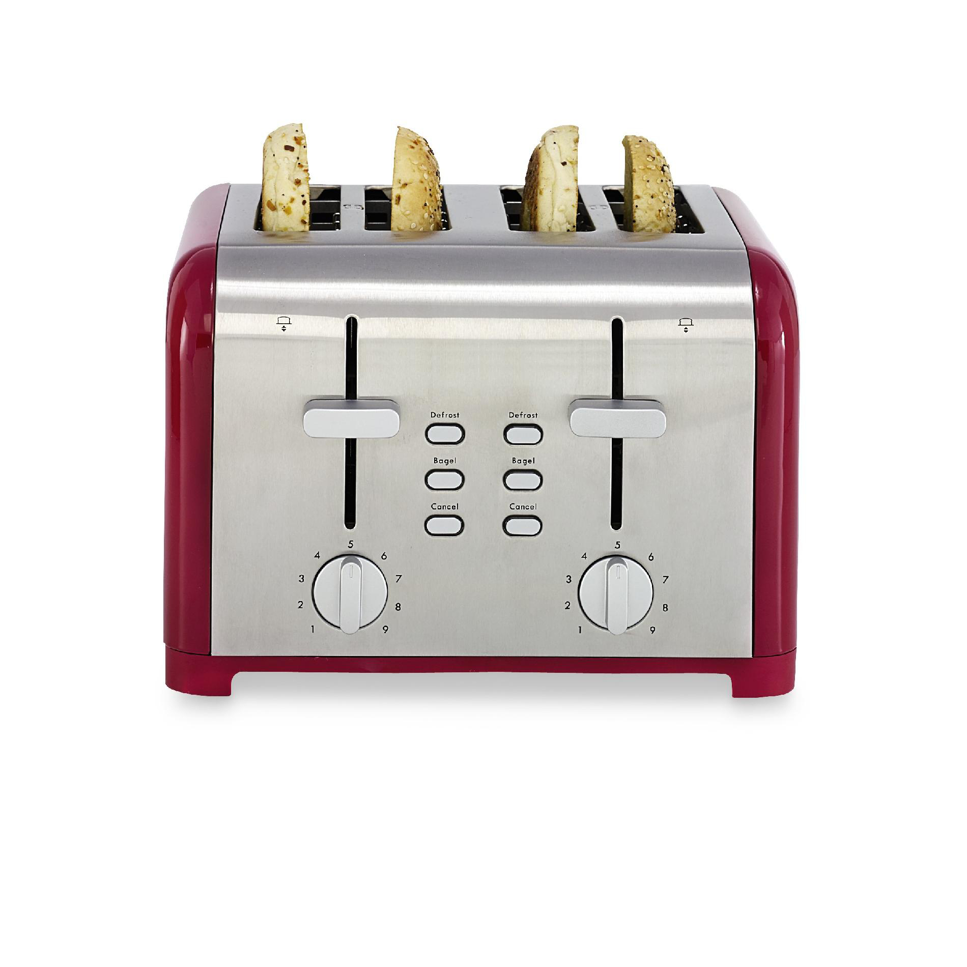 Kenmore Four-Slice Red Adjustable Toaster