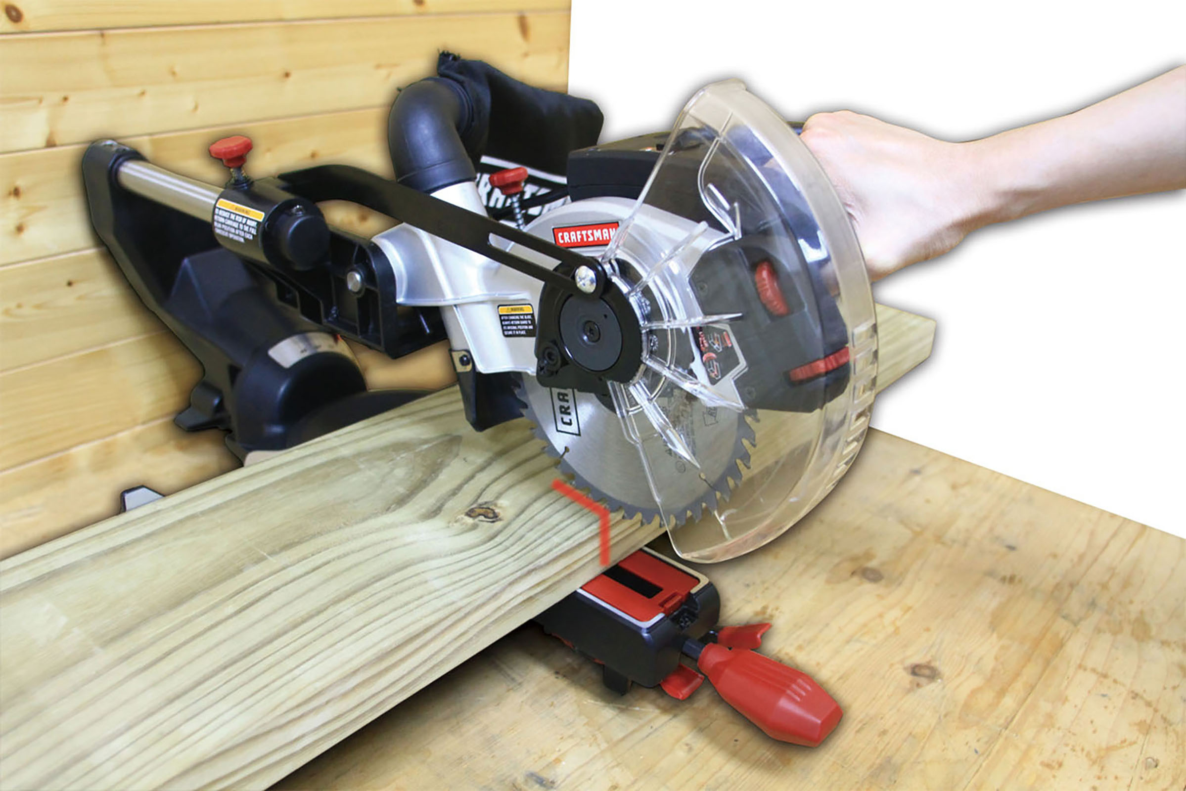 Craftsman 7 1/4-Inch Compact Sliding Compound Miter Saw