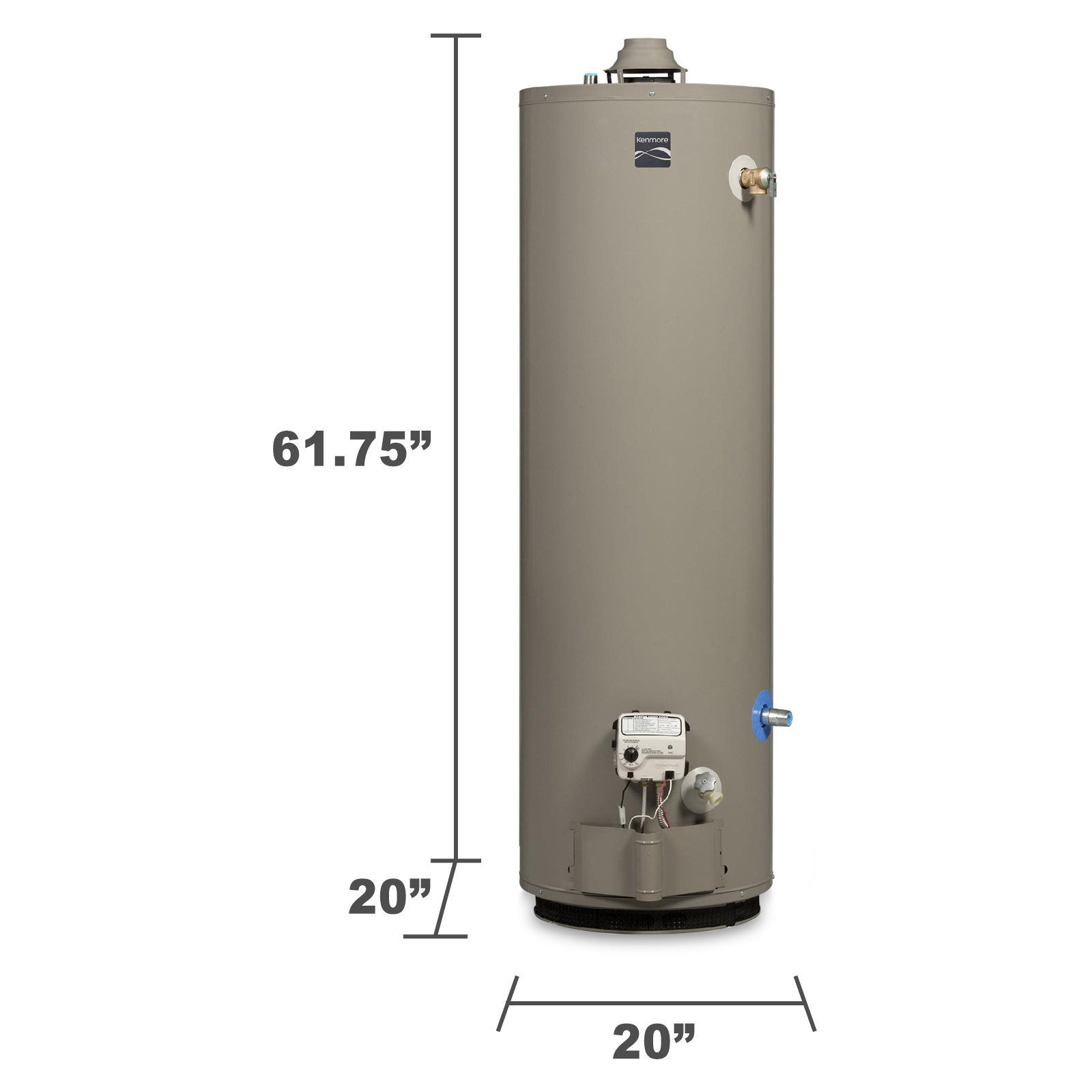 Kenmore 33694 40 gal. Mobile Home Natural/Propane Gas Water Heater