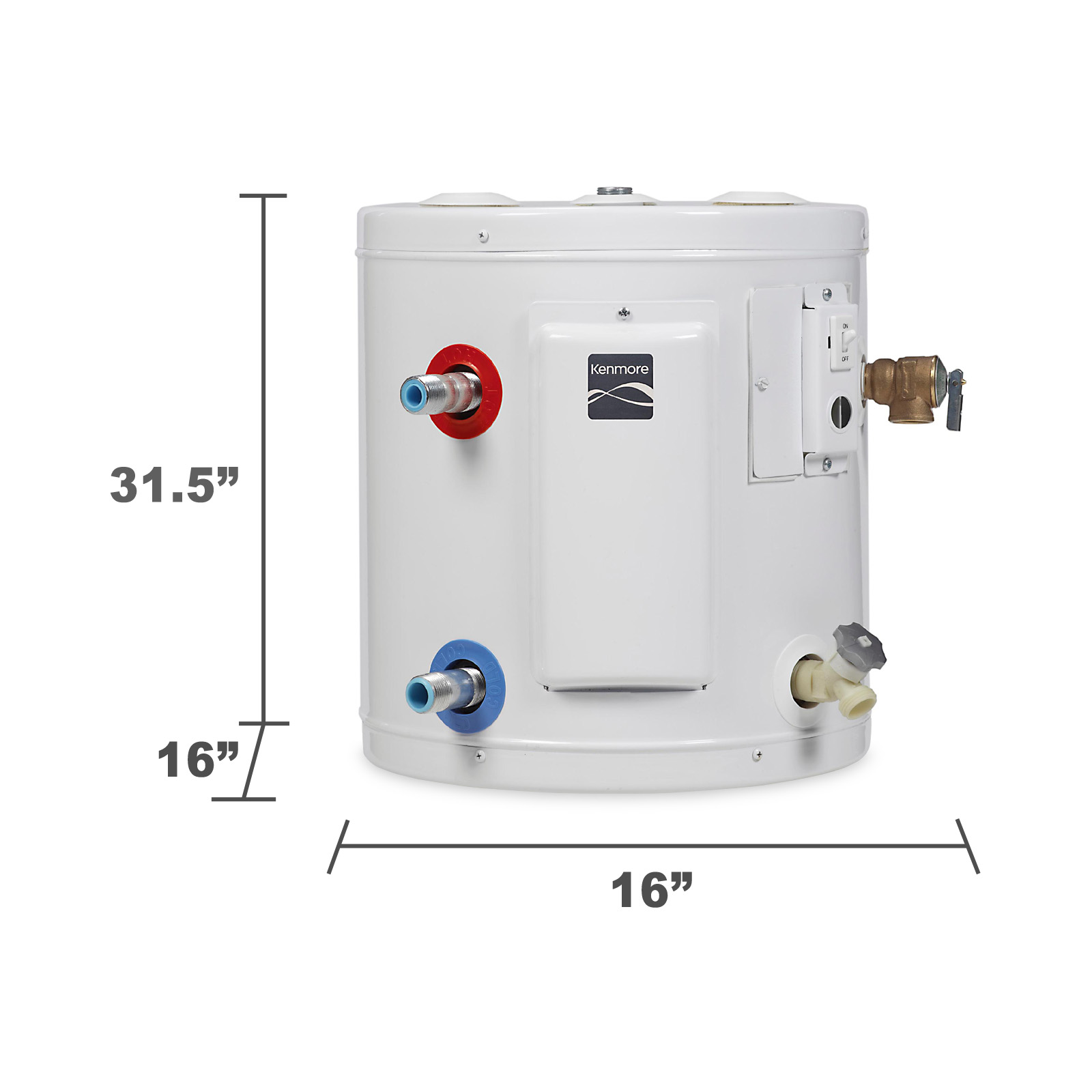 Kenmore 20 gal. 6-Year Tall Compact Electric Water Heater