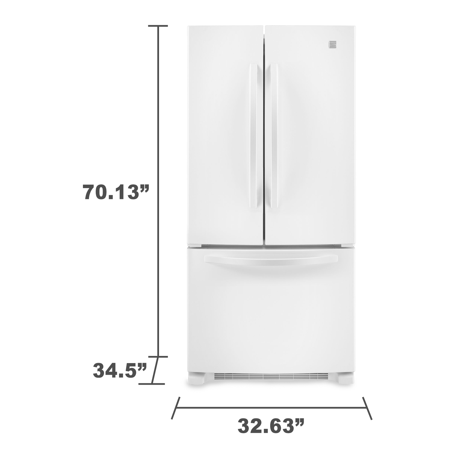 Kenmore 72002 22 cu. ft. French-Door Bottom-Freezer Refrigerator w/Internal Dispenser - White