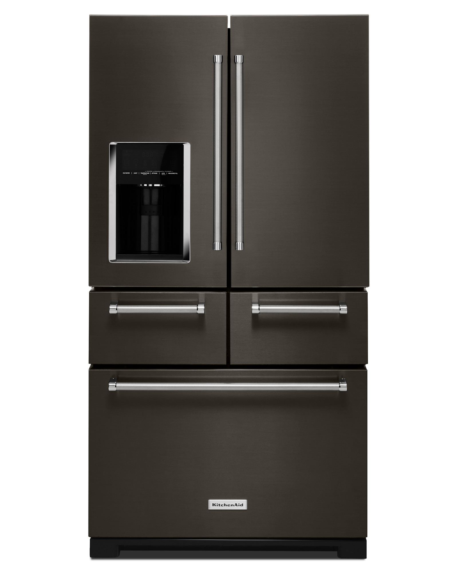 KitchenAid KRMF706EBS 25.8 cu. ft. 36 Multi-Door Freestanding Refrigerator - Black Stainless
