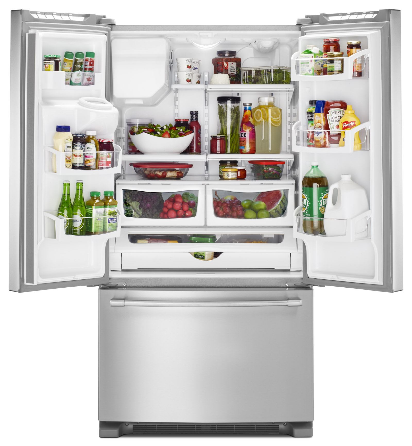 """Maytag MFI2570FEZ 25 cu. ft. 36"""" Wide French Door Refrigerator w/ PowerCold® - Stainless Steel"""