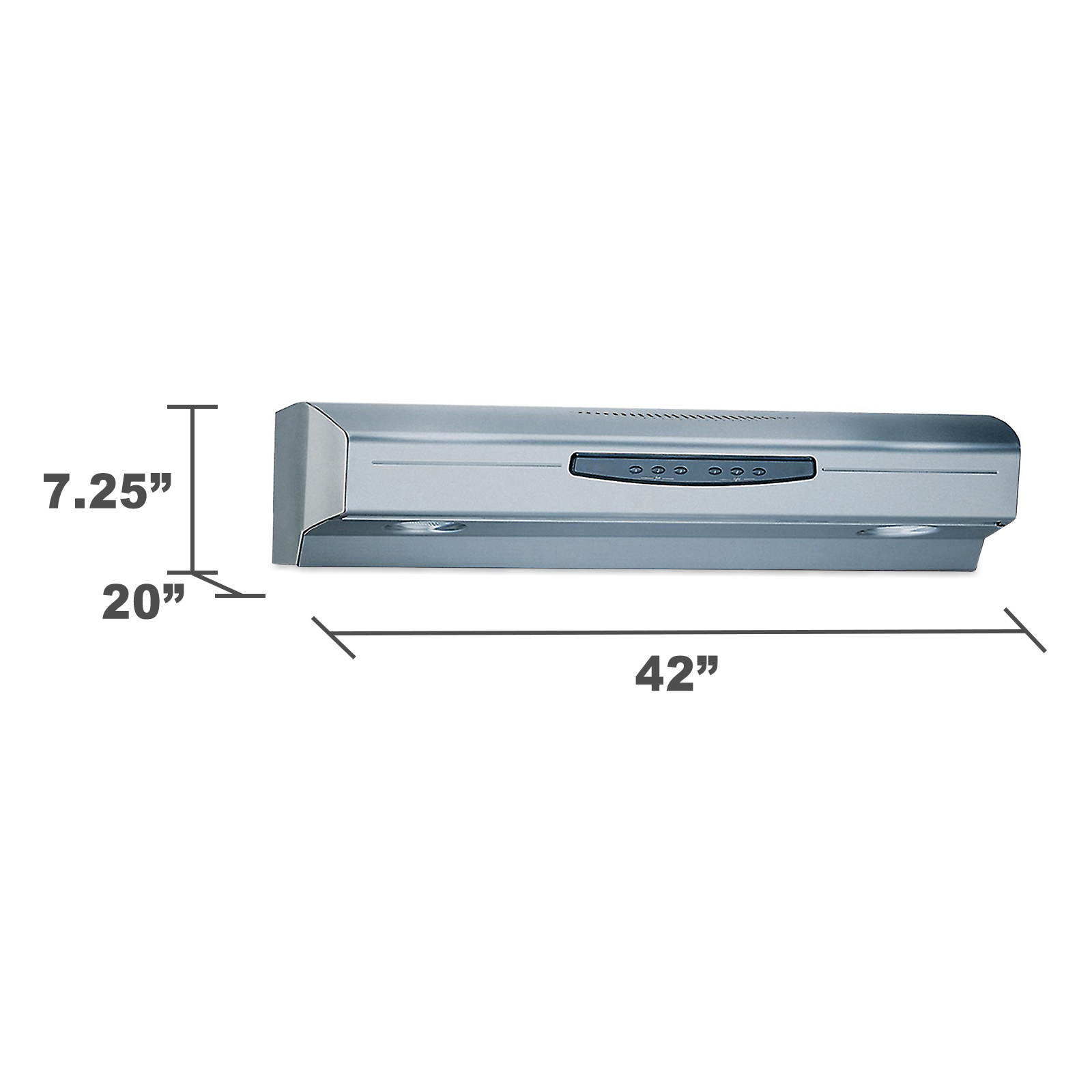 "Kenmore Elite 55223 42"" Updraft Range Hood w/ 3-Setting Halogen Lighting - Stainless Steel"