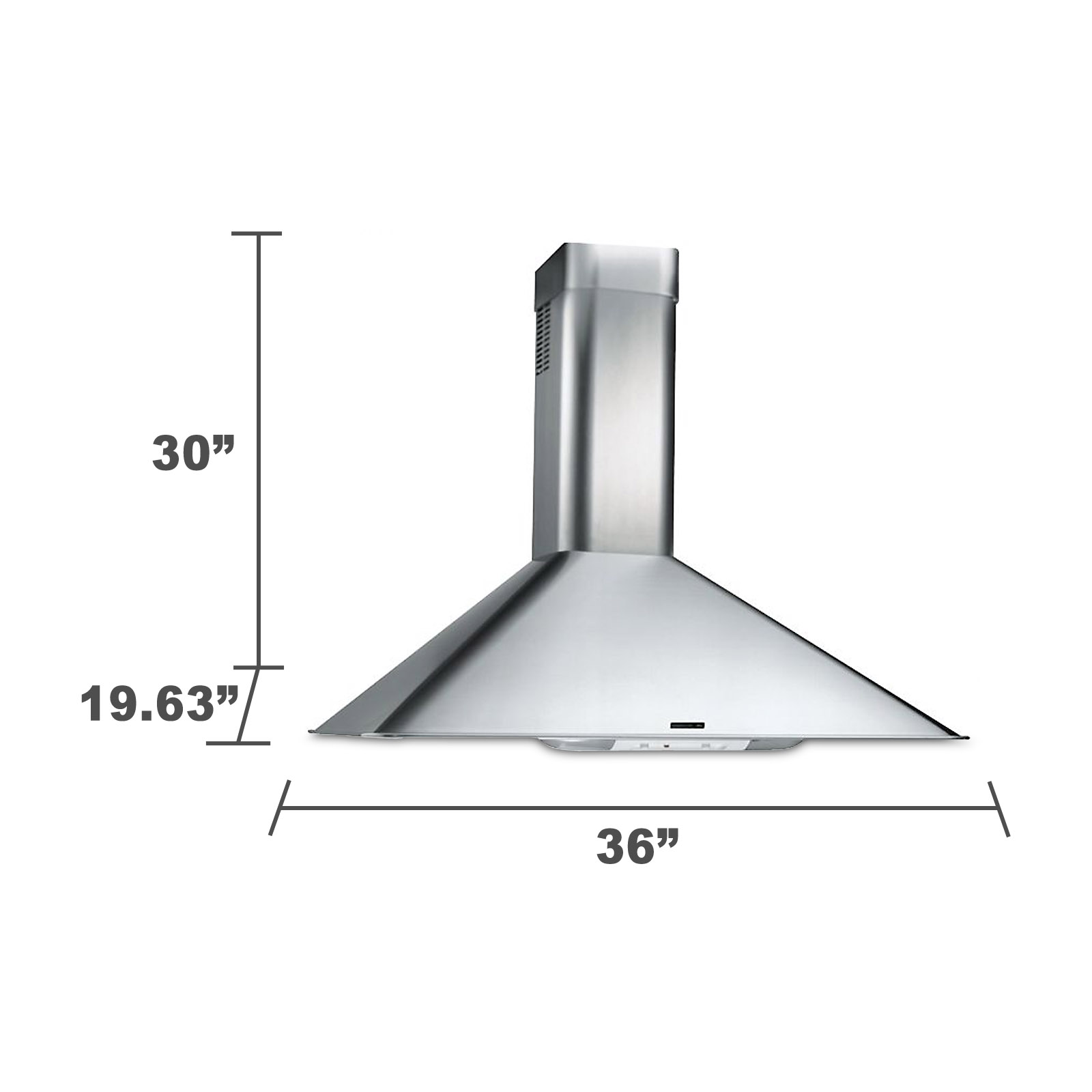 "Kenmore 50363 36"" Italian-Design Chimney Range Hood - Stainless 50363"