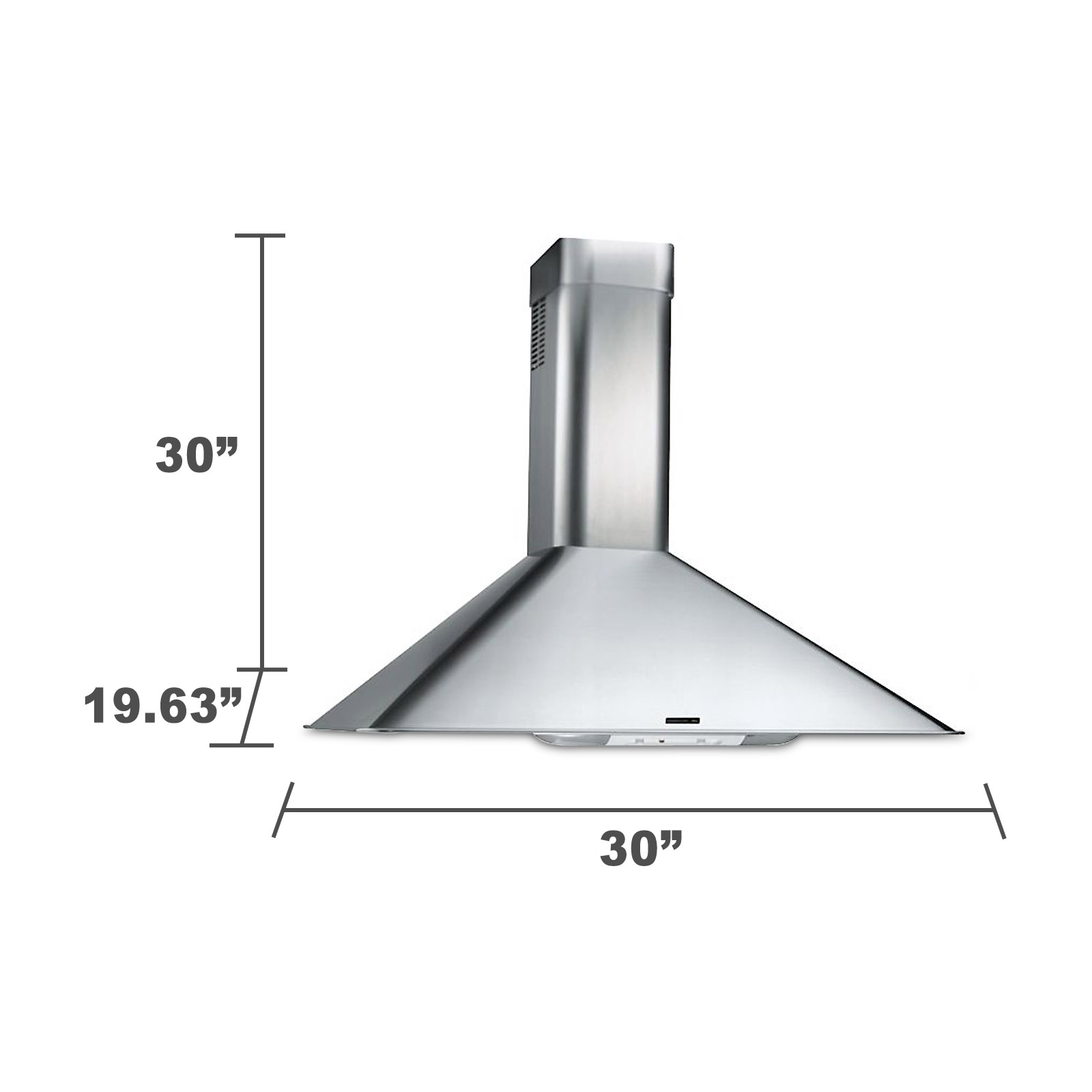 "Kenmore 50303 30"" Italian-Design Chimney Range Hood - Stainless 50303"