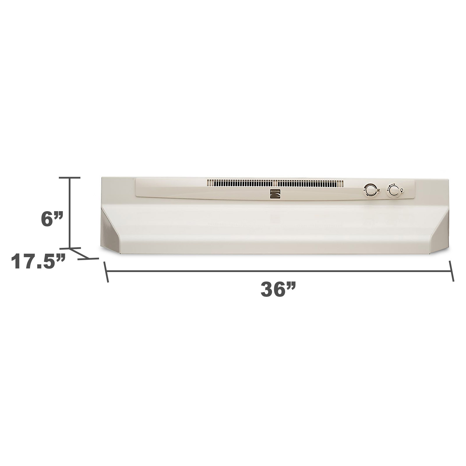 """Kenmore 52154 36"""" Convertible Range Hood - Bisque 52154"""