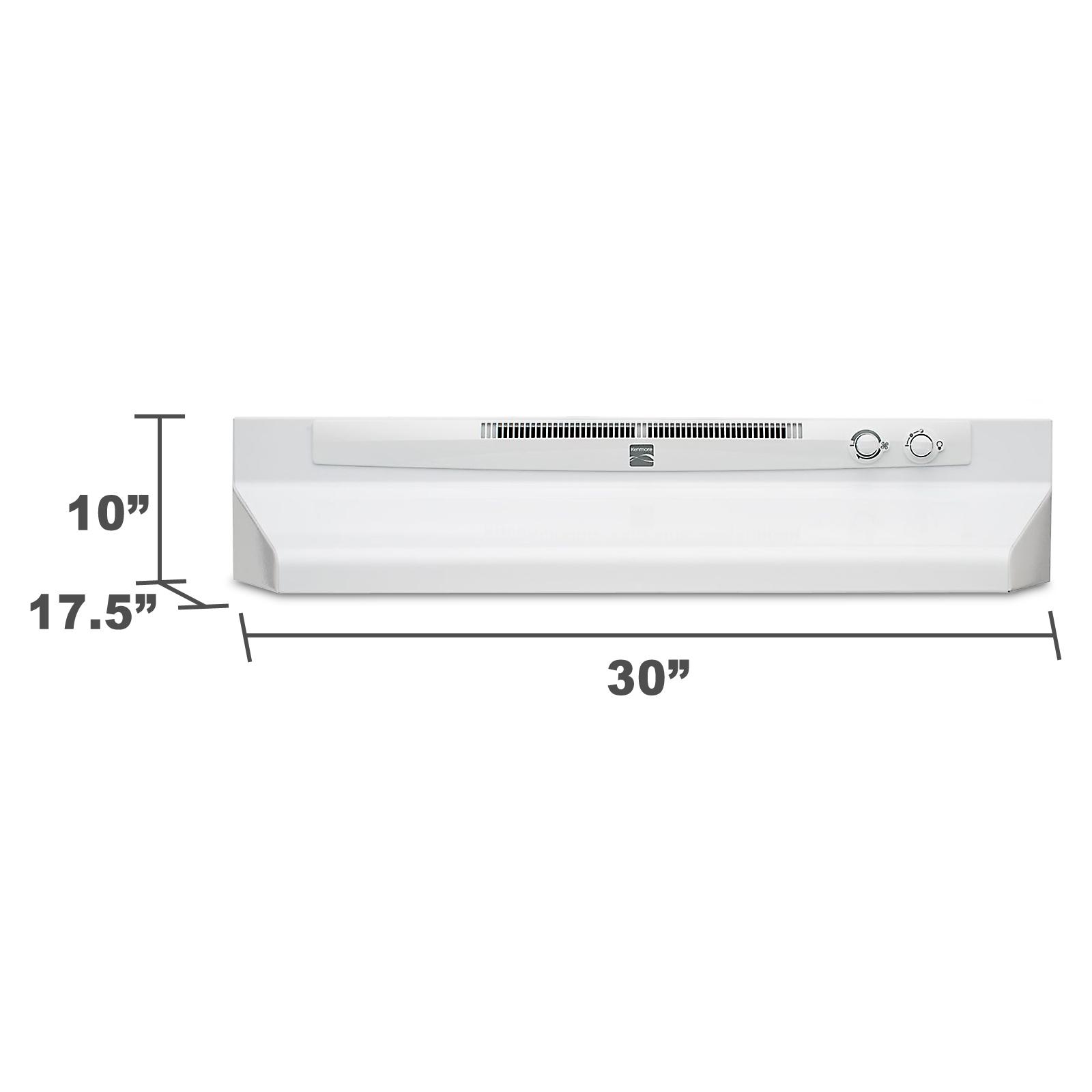 "Kenmore 52052 30"" Convertible Range Hood - White 52052"