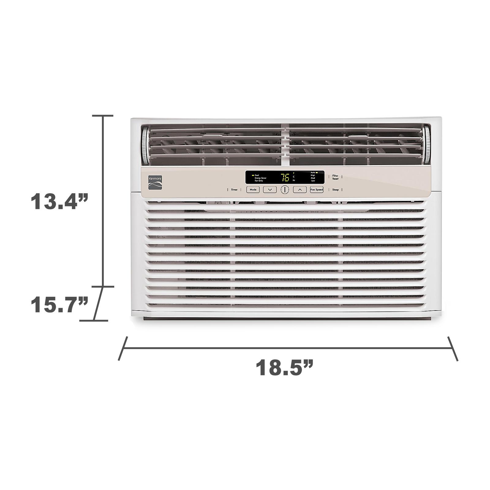 Kenmore 6 000-BTU Room Air Conditioner Window Unit - White