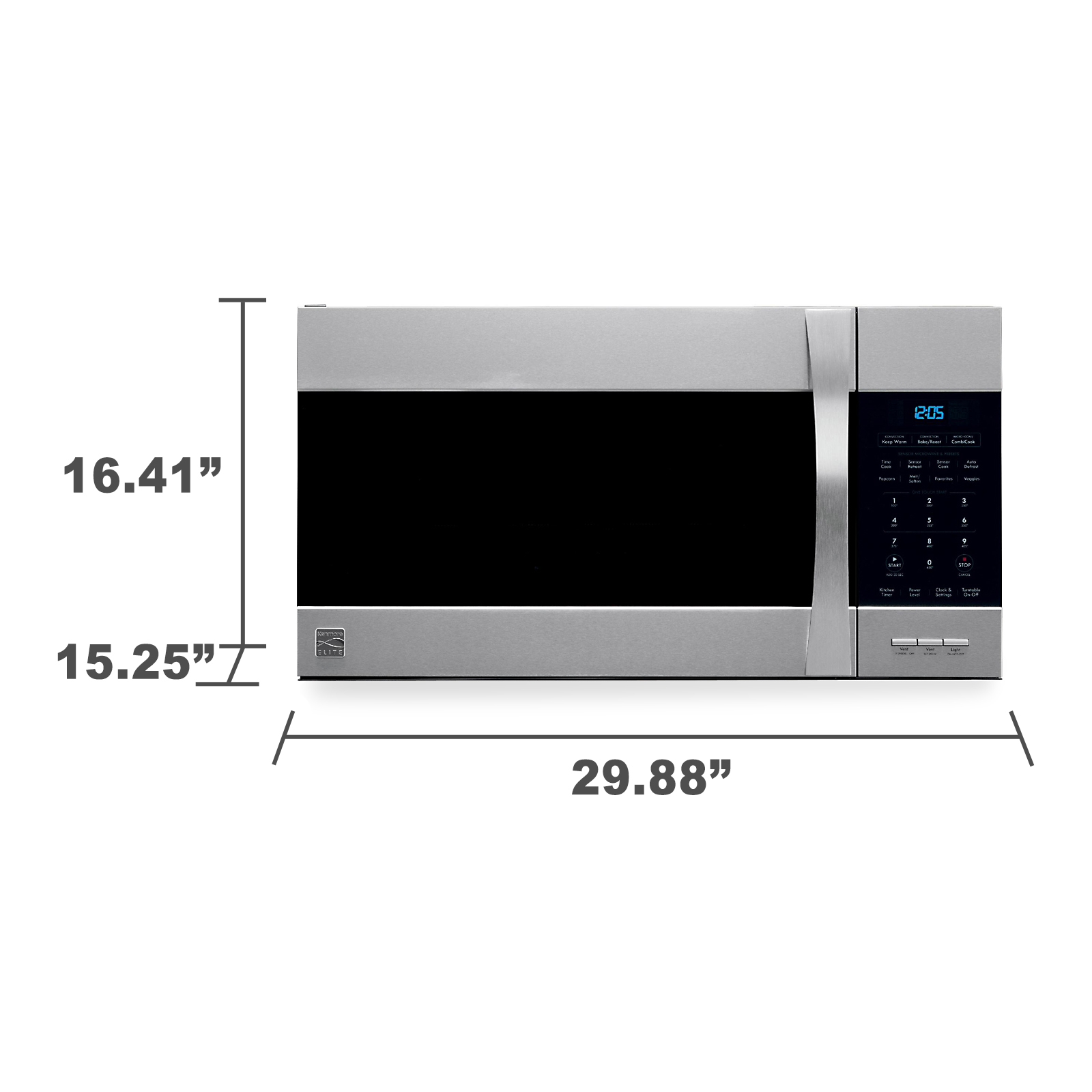 Kenmore Elite 80363 1.5 cu. ft. Over-the-Range Convection Microwave - Stainless Steel