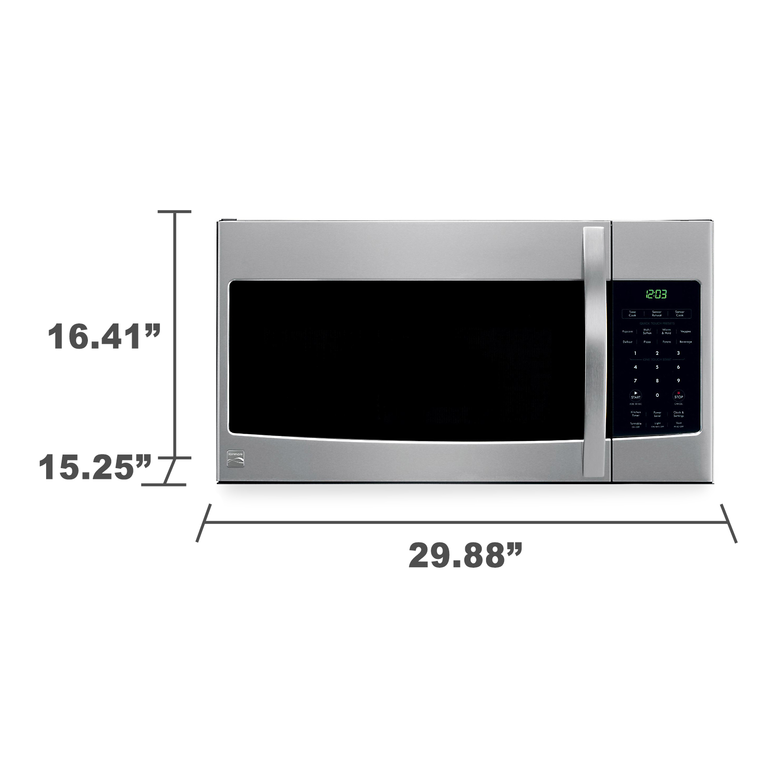 Kenmore 80343 1.7 cu. ft. Over-the-Range Microwave - Stainless Steel