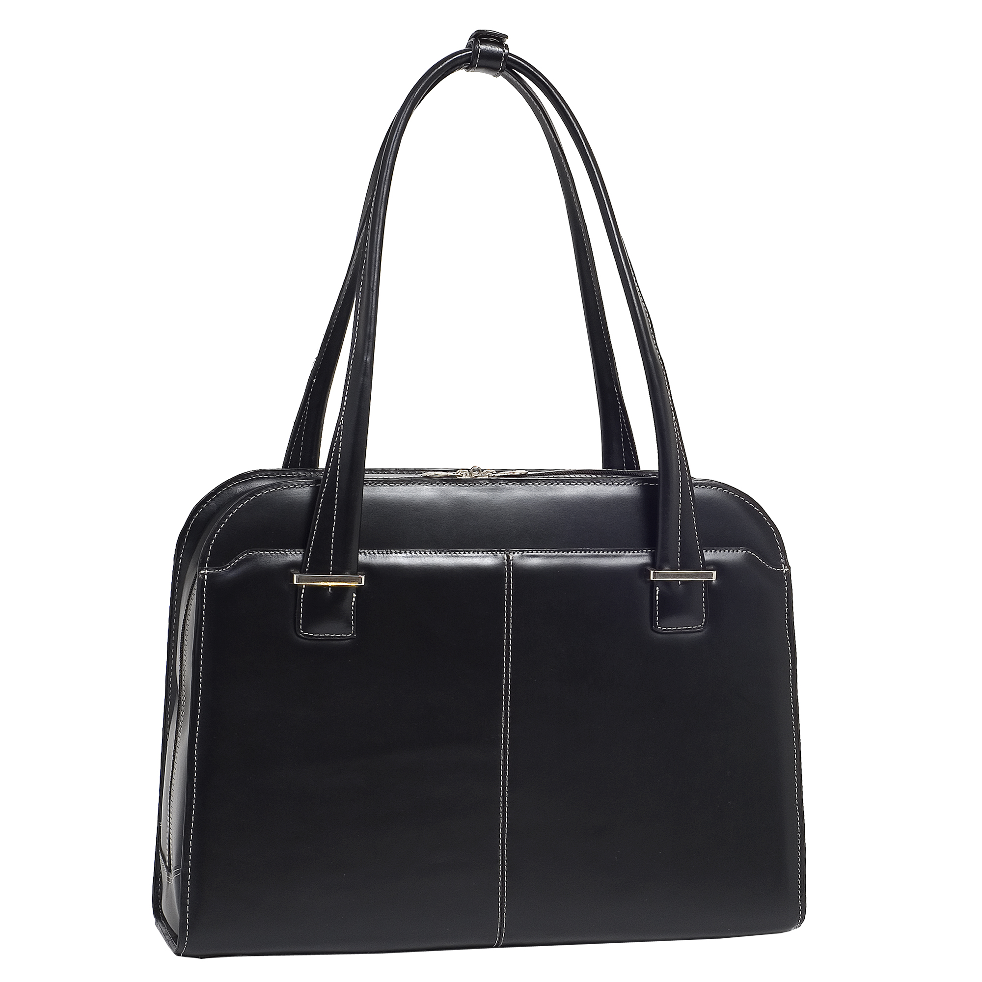 mcklein McKleinUSA OAK GROVE 96635 Black Leather Fly-Through™ Checkpoint-Friendly Ladies' Briefcase