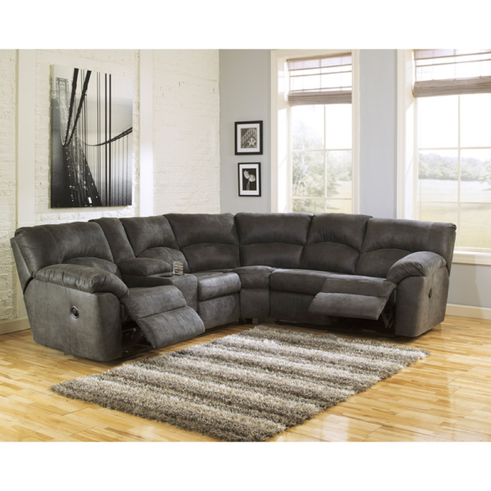 Ashley Furniture Tambo Pewter Sectional