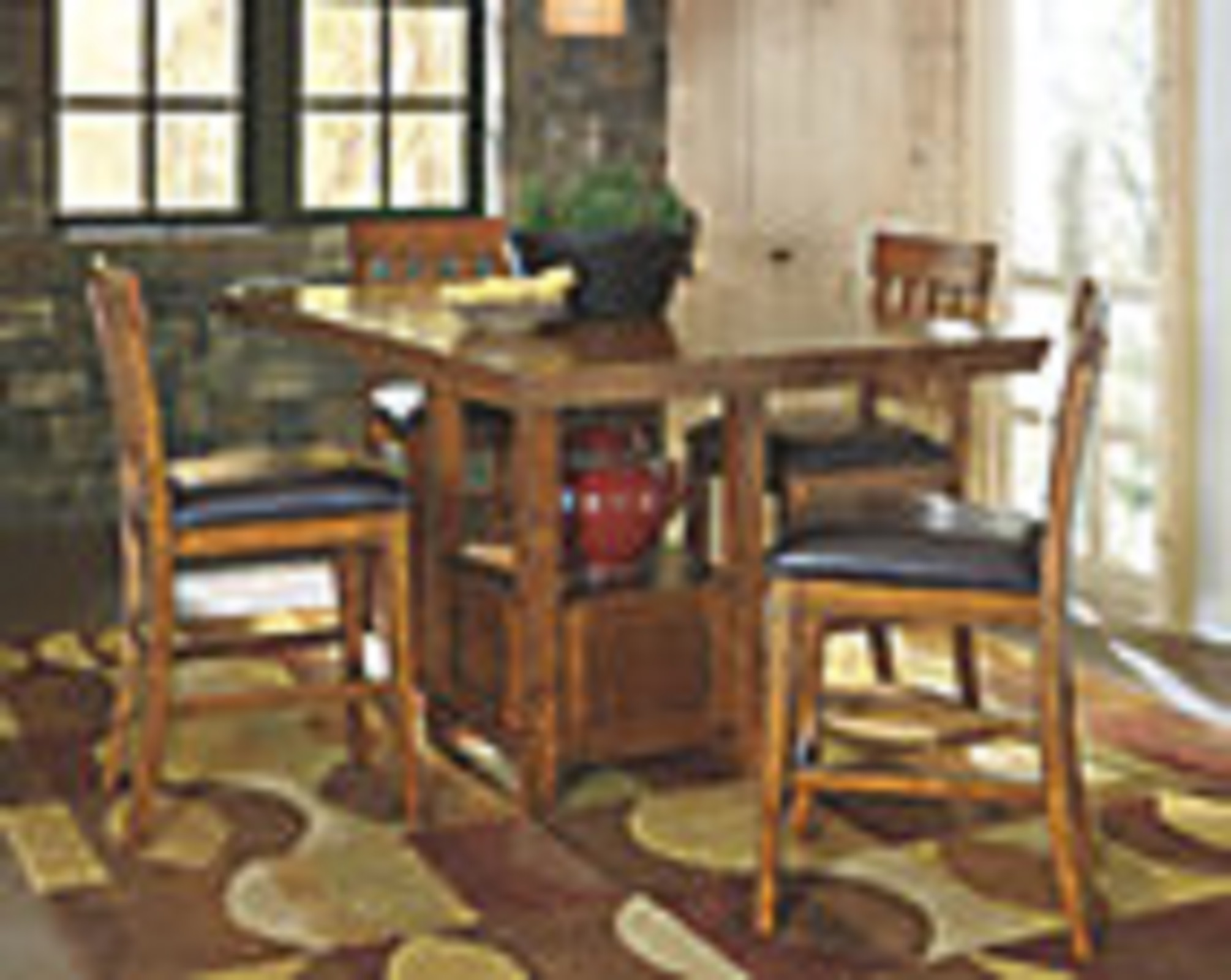 Signature Design by Ashley Ralene Counter Height Dining Room Table and Chairs