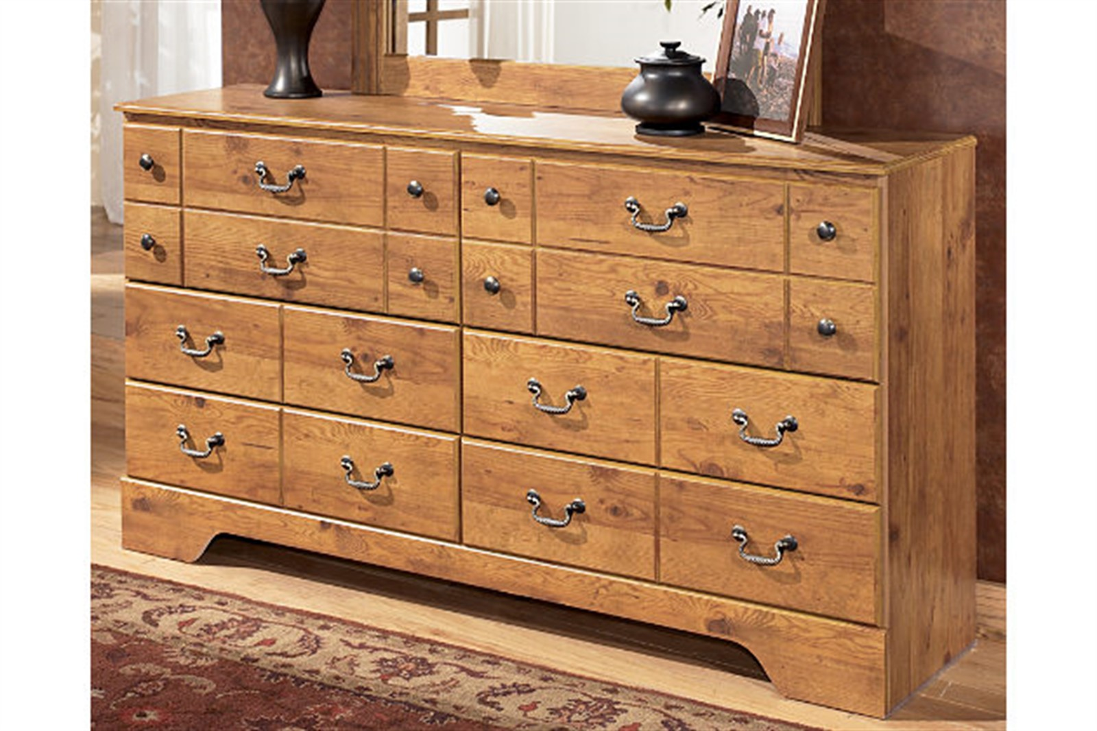 Bittersweet Light Brown Dresser with Mirror
