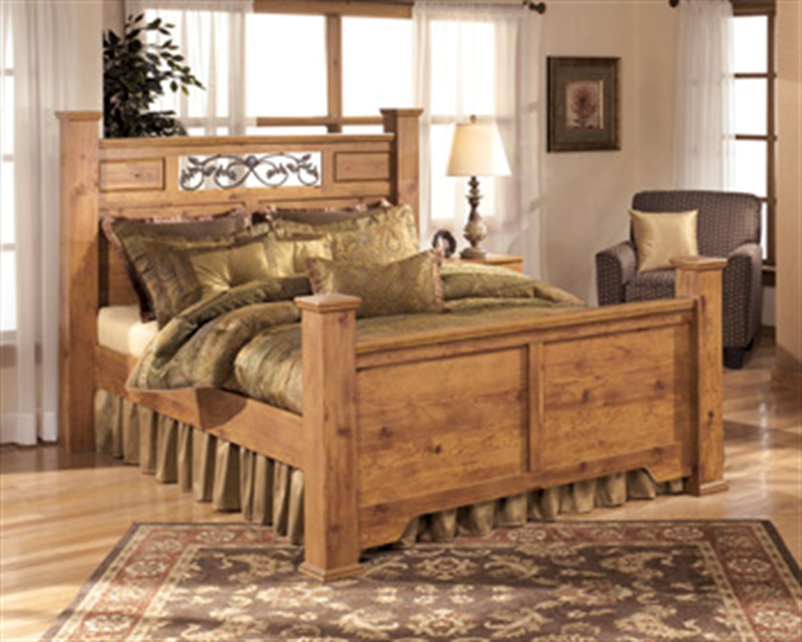 Bittersweet Light Brown Queen Bed with Under Bed Storage