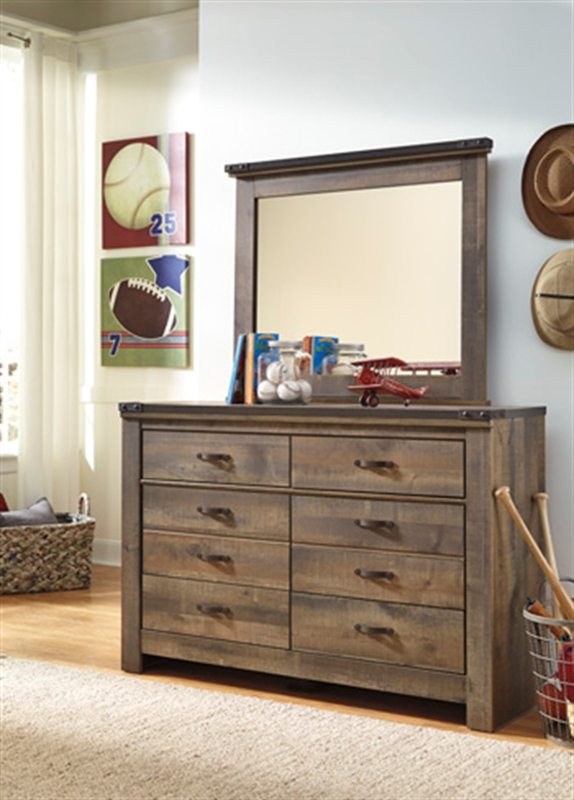 Trinell Youth Dresser with Mirror