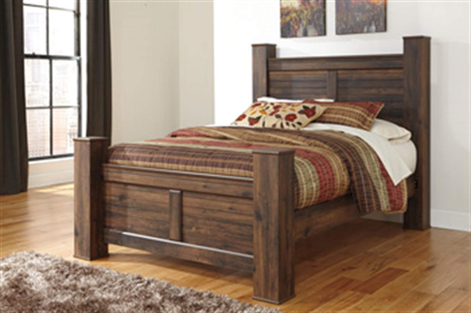 Quinden Dark Brown Queen Bed