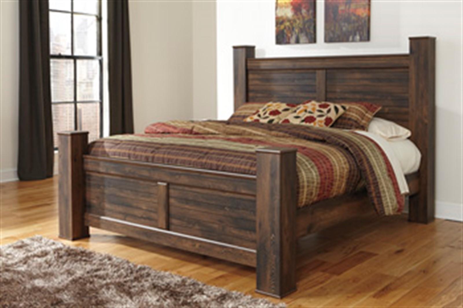 Quinden Dark Brown King Bed