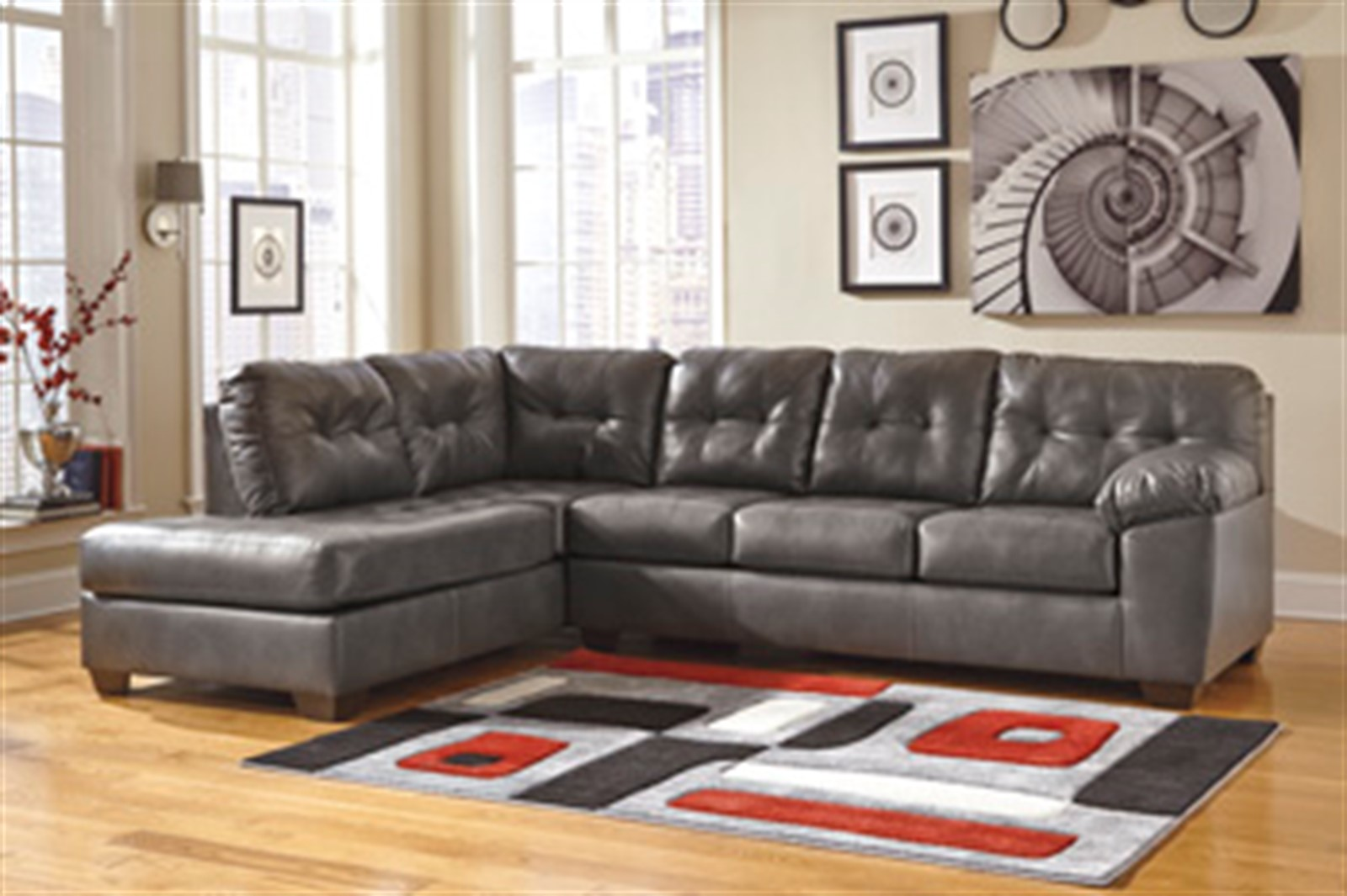 Signature Design by Ashley Alliston Durablend Grey Sectional