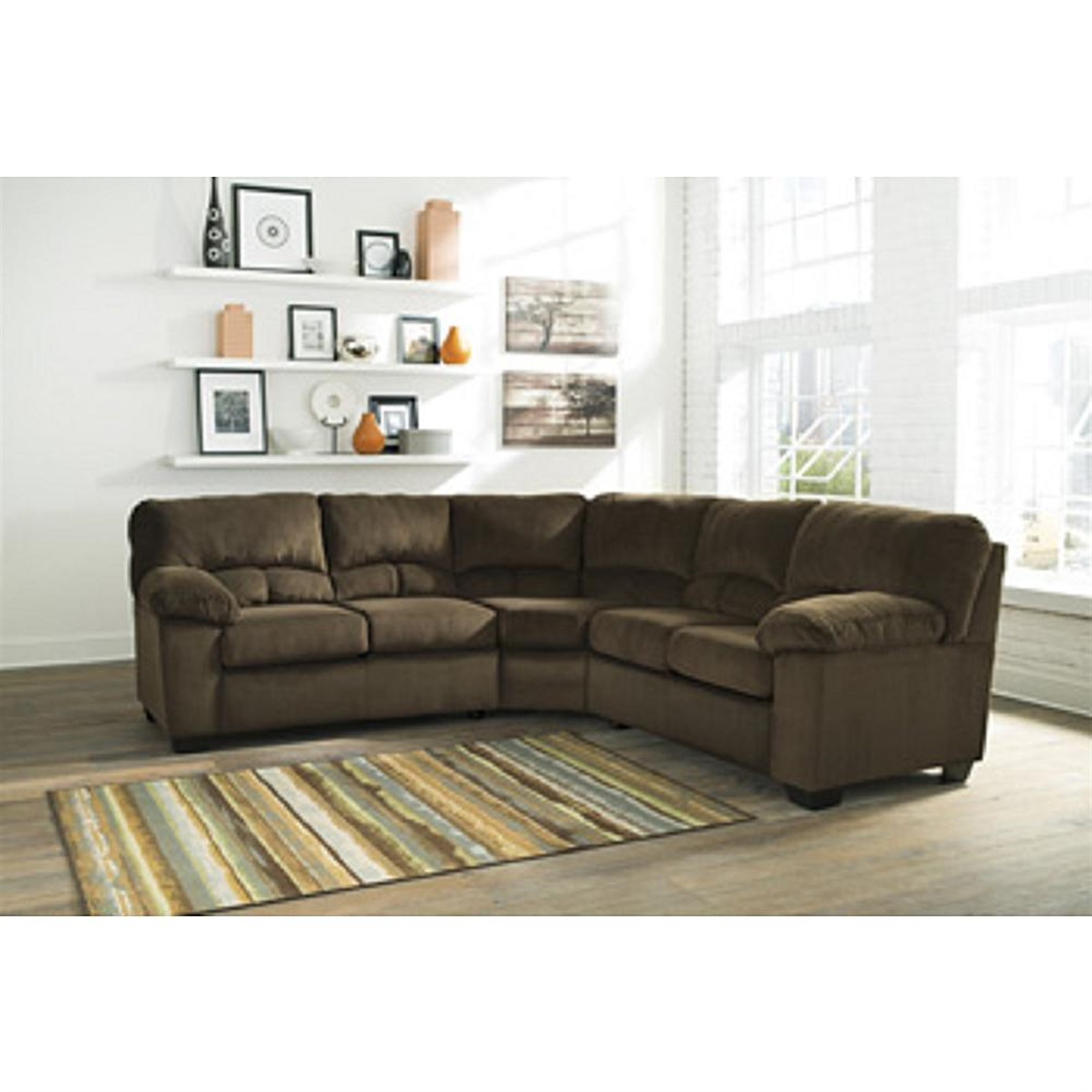 Signature Design by Ashley Dailey Chocolate Sectional