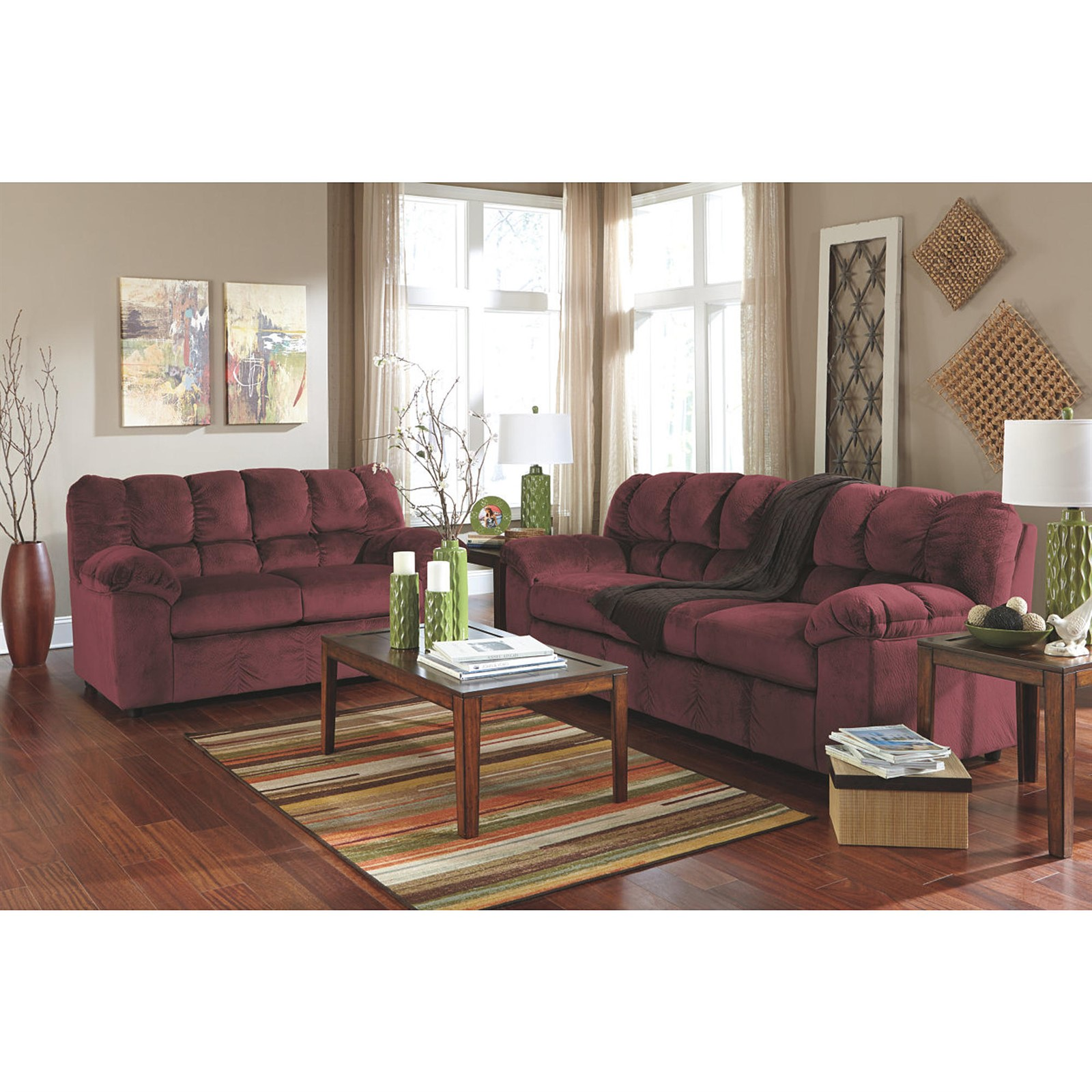 Signature Design by Ashley Julson Burgundy Living Room Set