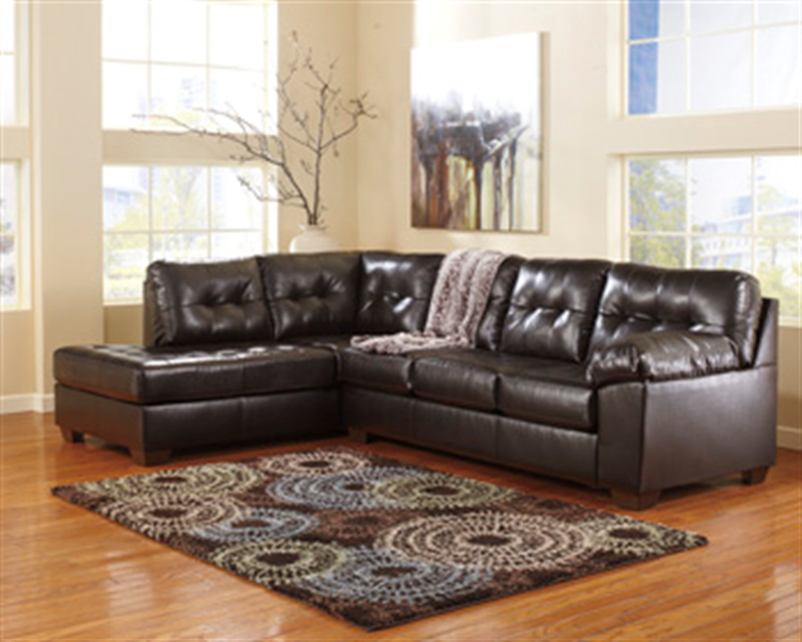 Signature Design by Ashley Alliston DuraBlend® Chocolate Sectional