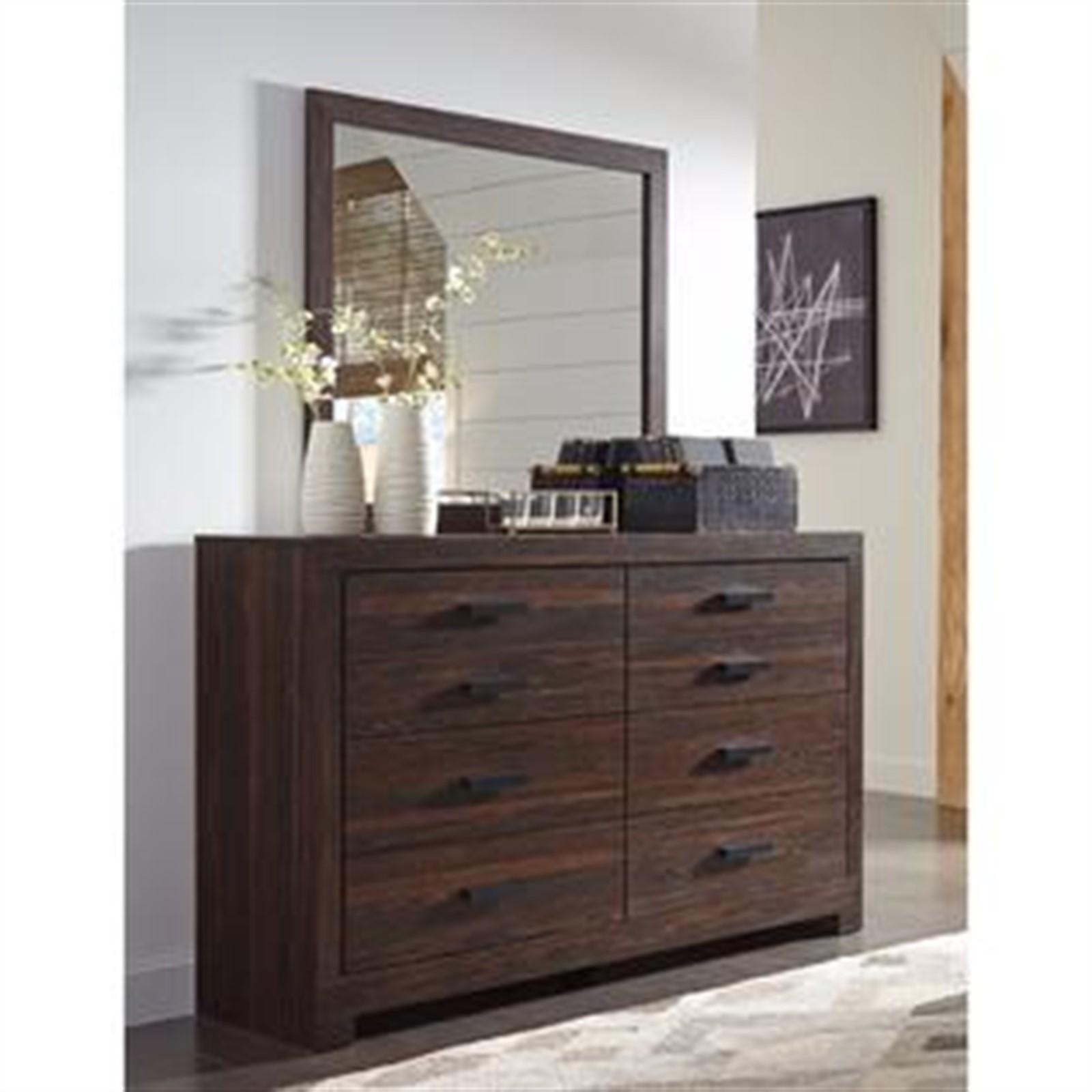 Arkaline Dresser and Mirror Set - Brown