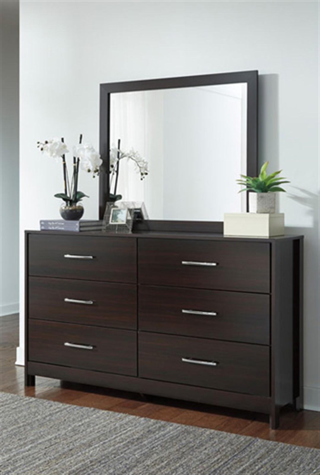 Agella Dresser and Mirror Set - Merlot