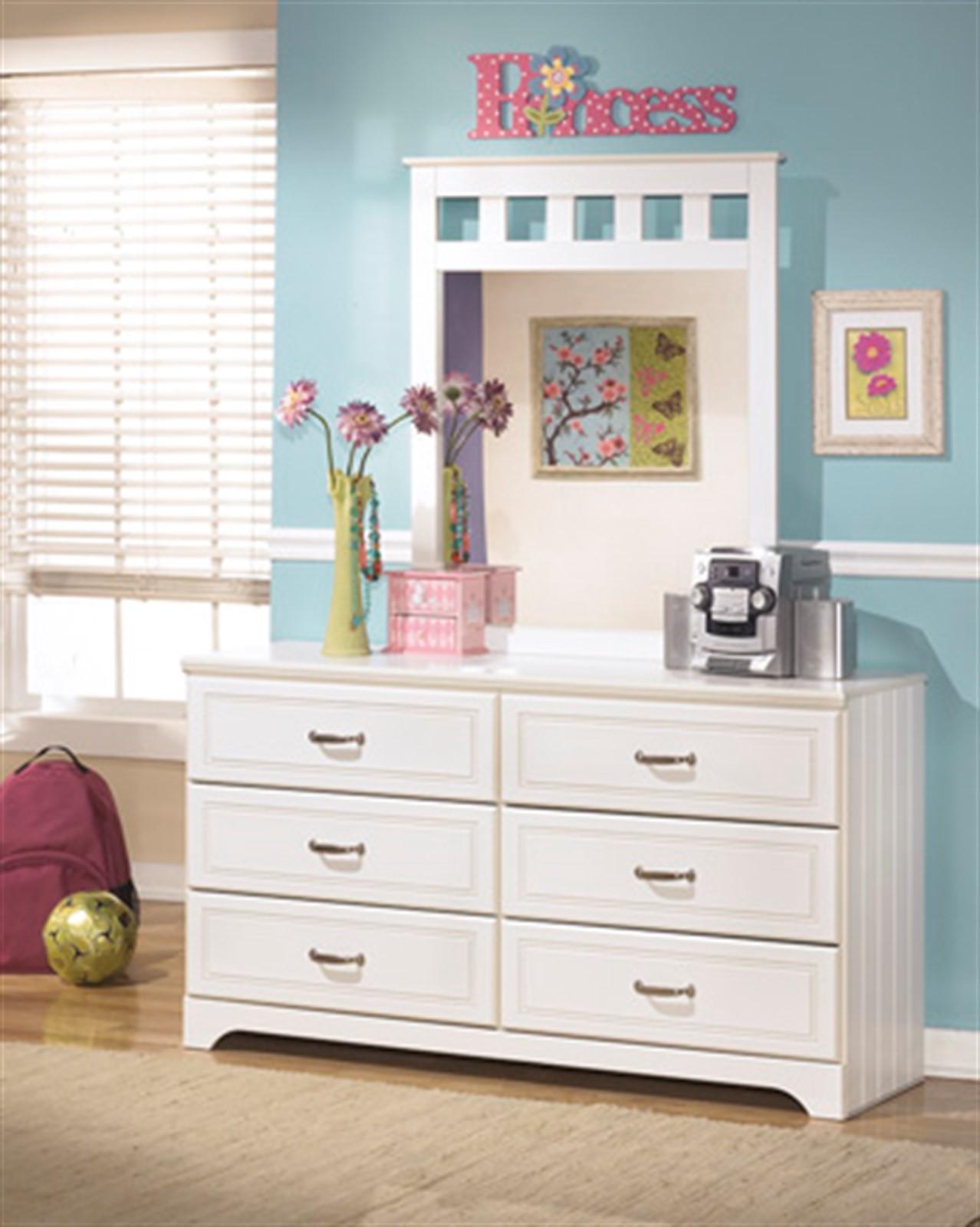 Lulu Dresser and Mirror Set - White