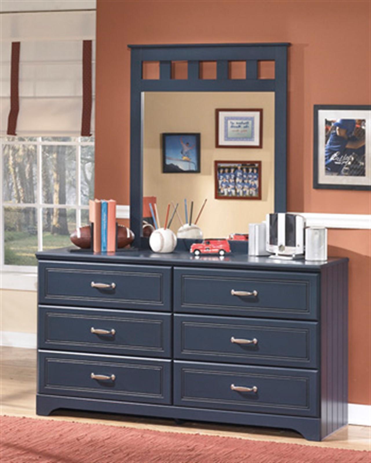 Leo Dresser and Mirror Set - Blue