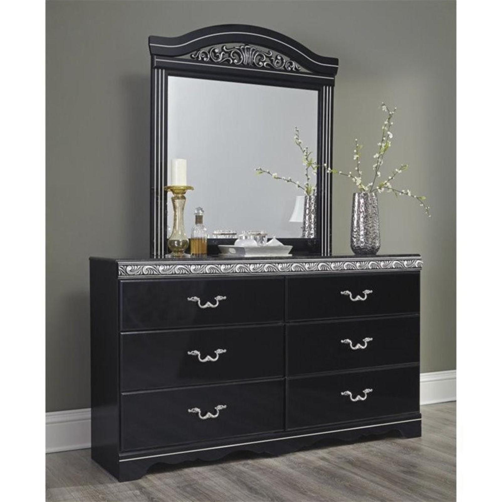 Constellations Dresser and Mirror Set - Black