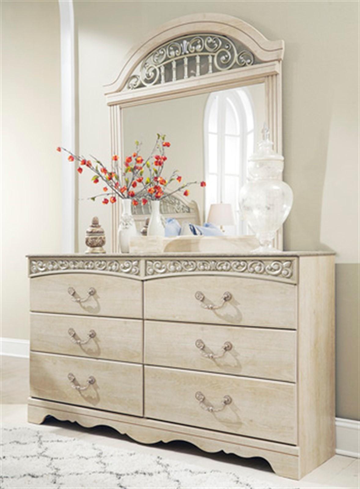 Catalina Dresser and Mirror Set - Antique White