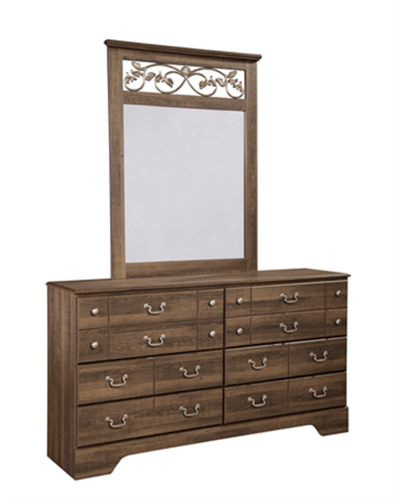 Allymore Dresser and Mirror Set - Brown
