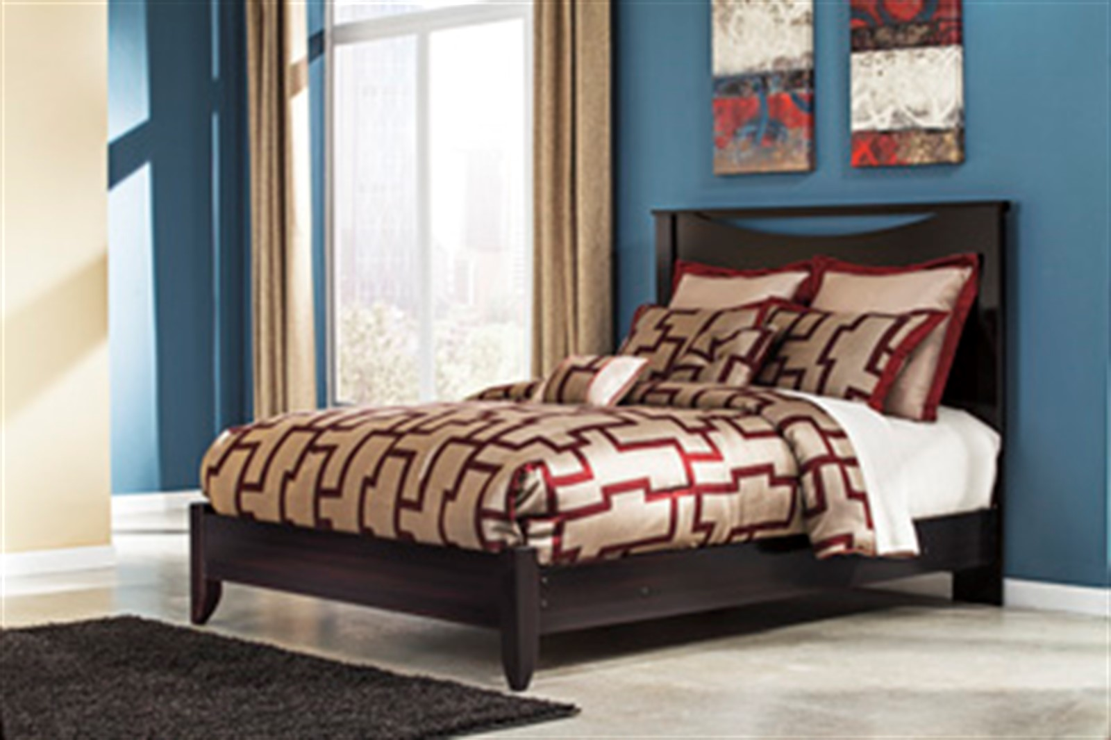 Zanbury Bed - King - Merlot