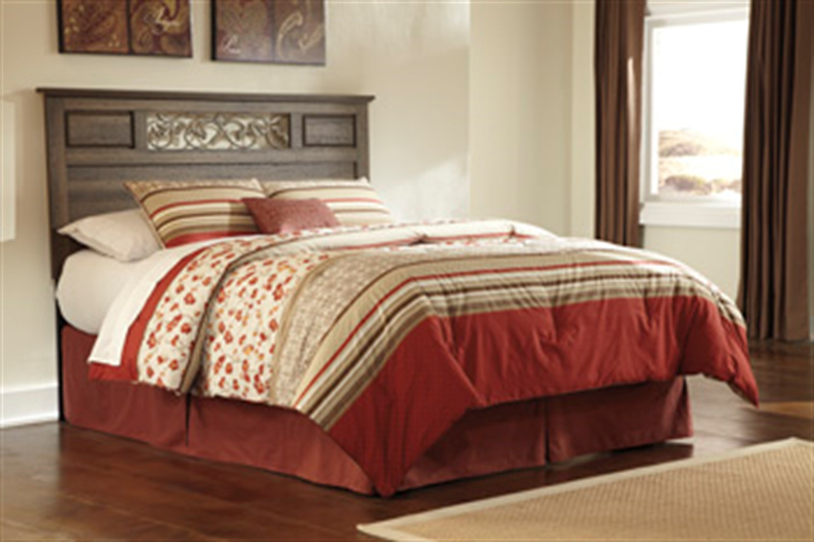 Allymore Panel Bed - Queen - Brown