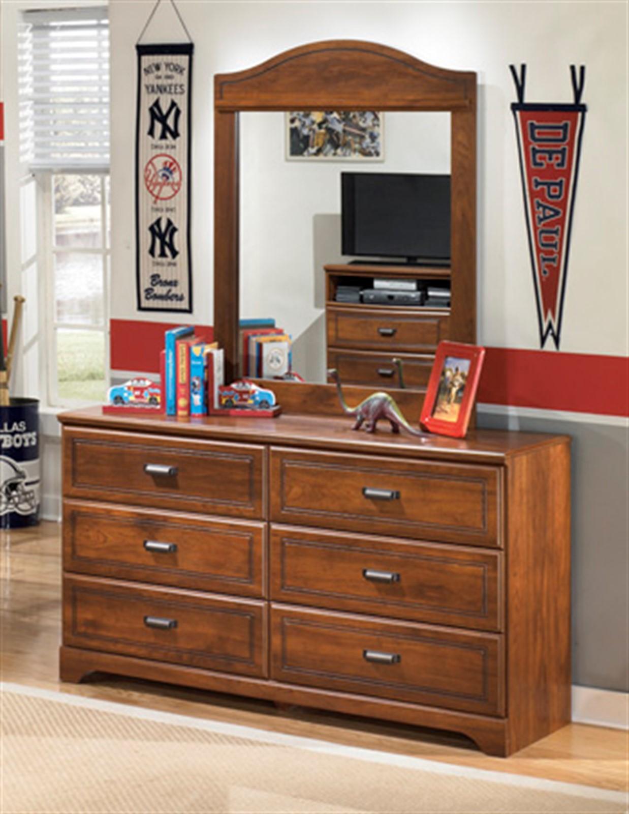 Barchan Dresser and Mirror Set - Medium Brown
