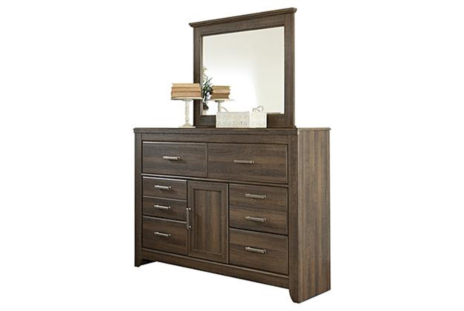 Juararo Dresser and Mirror Set - Dark Brown