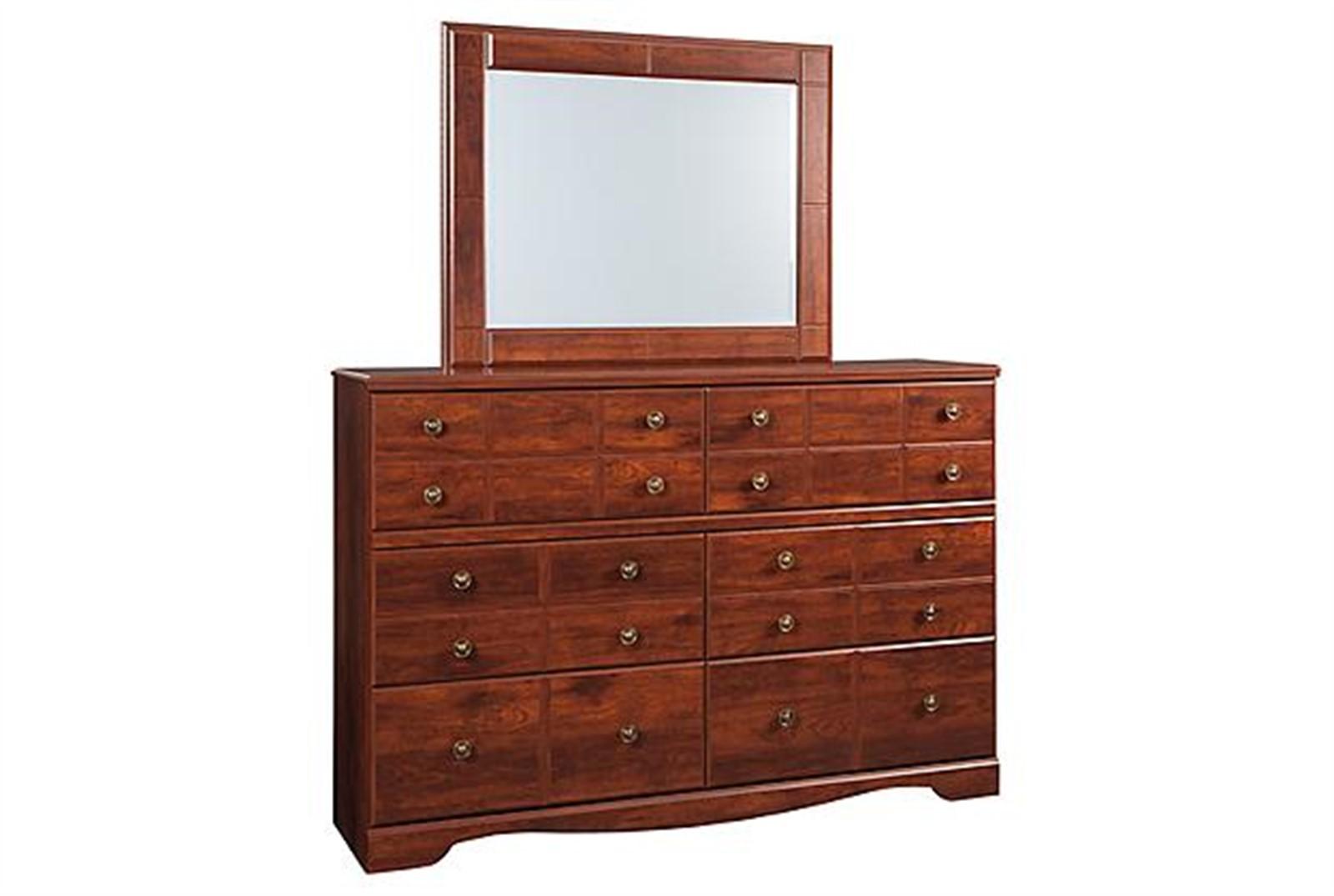 Brittberg Dresser and Mirror Set - Reddish Brown