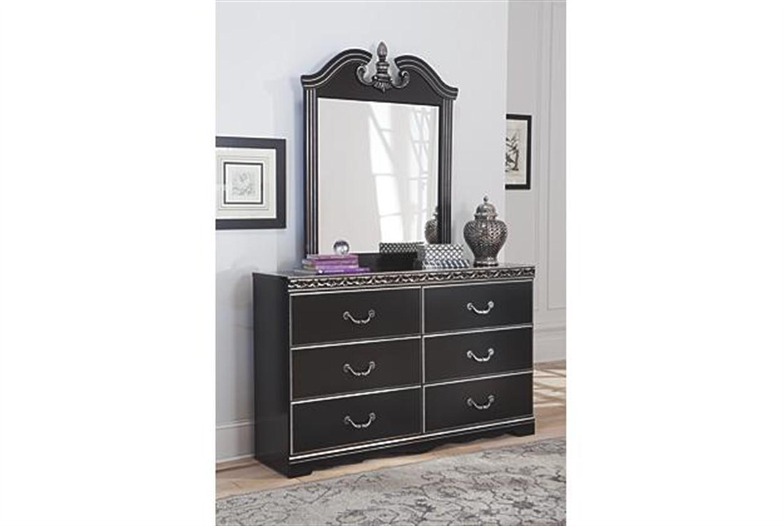 Navoni Dresser and Mirror Set - Black