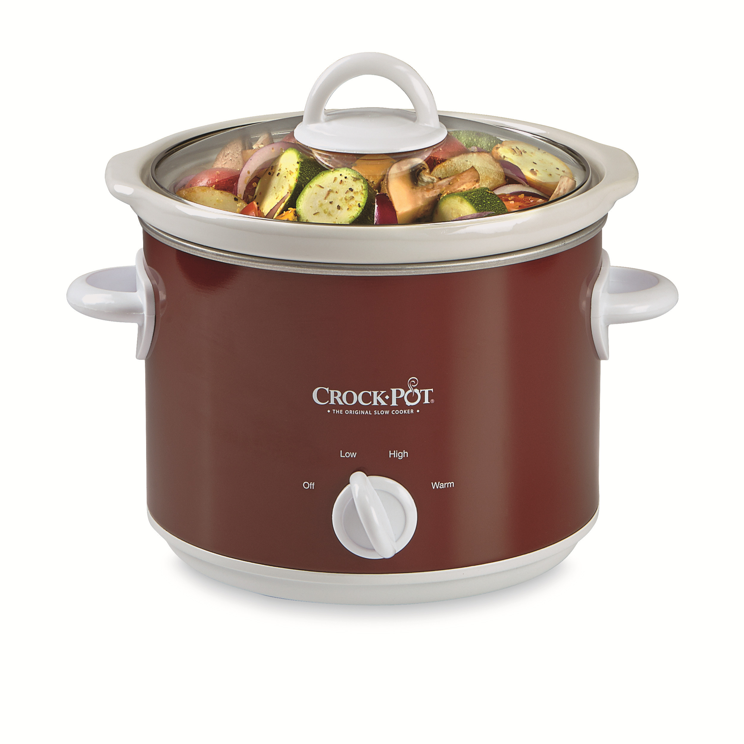 Crock-pot 3 Qt. Manual Slow Cooker  Red
