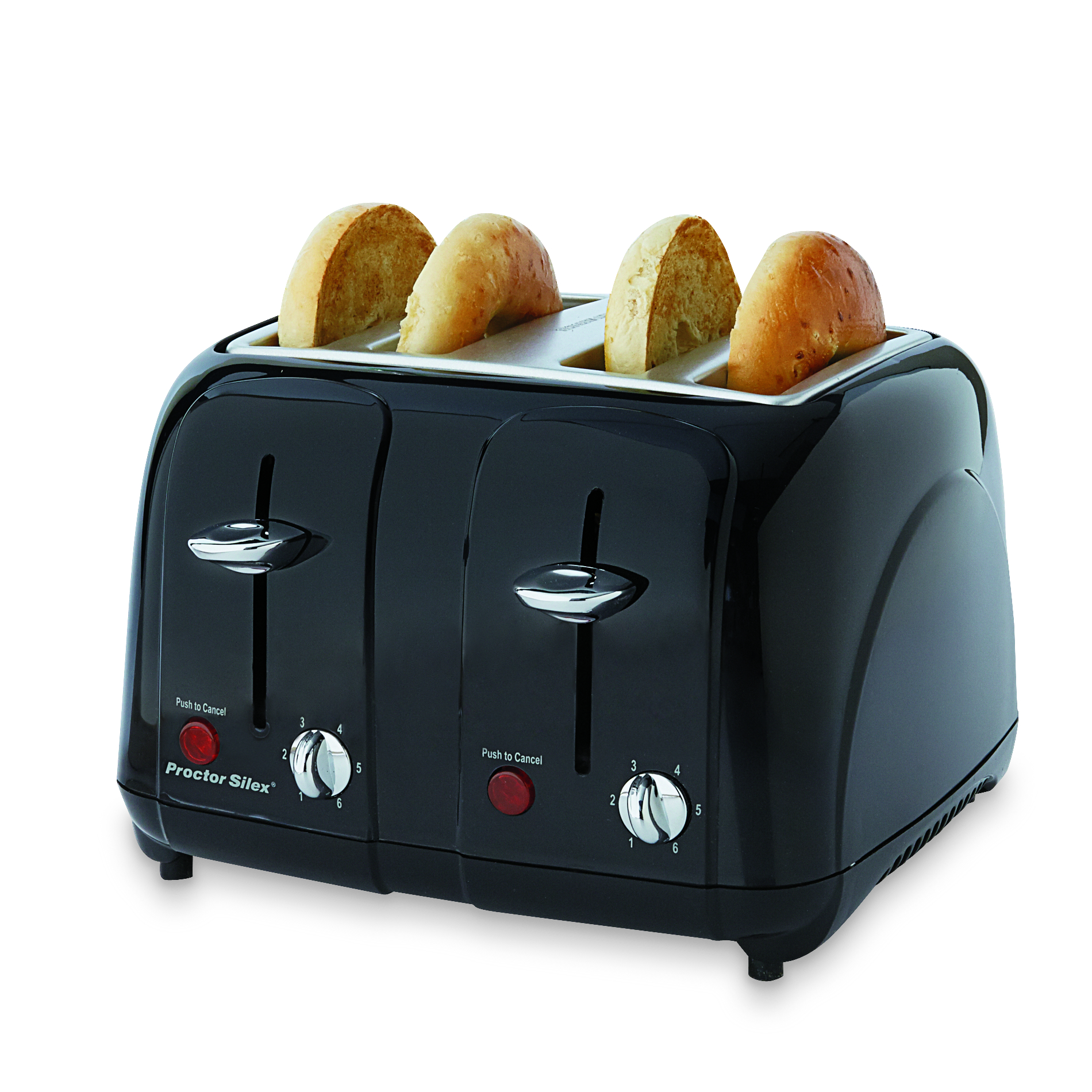 Proctor Silex 4-Slice Cool Touch Toaster Black
