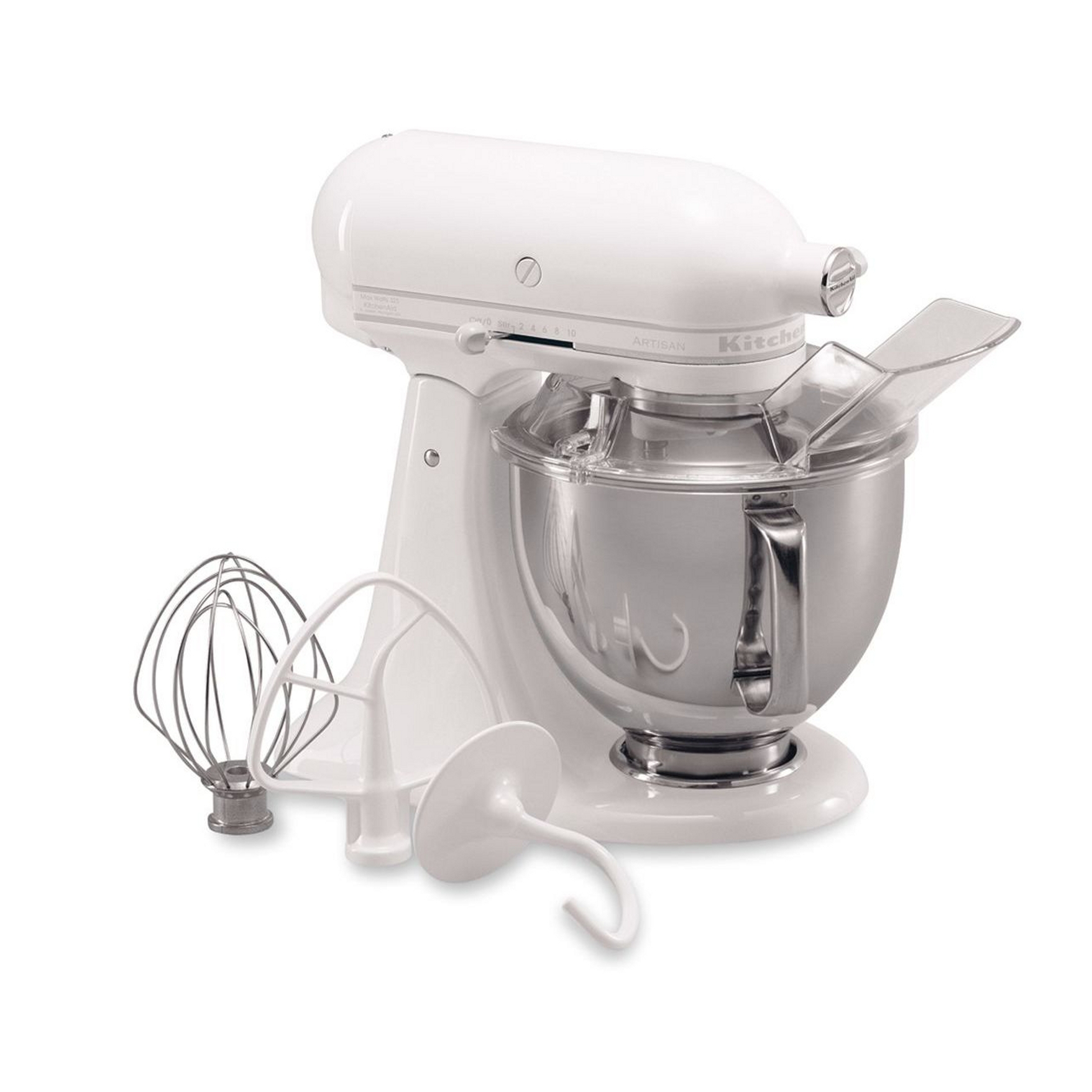 KitchenAid KSM150PSWW Artisan® Series White on White 5 Quart Stand Mixer