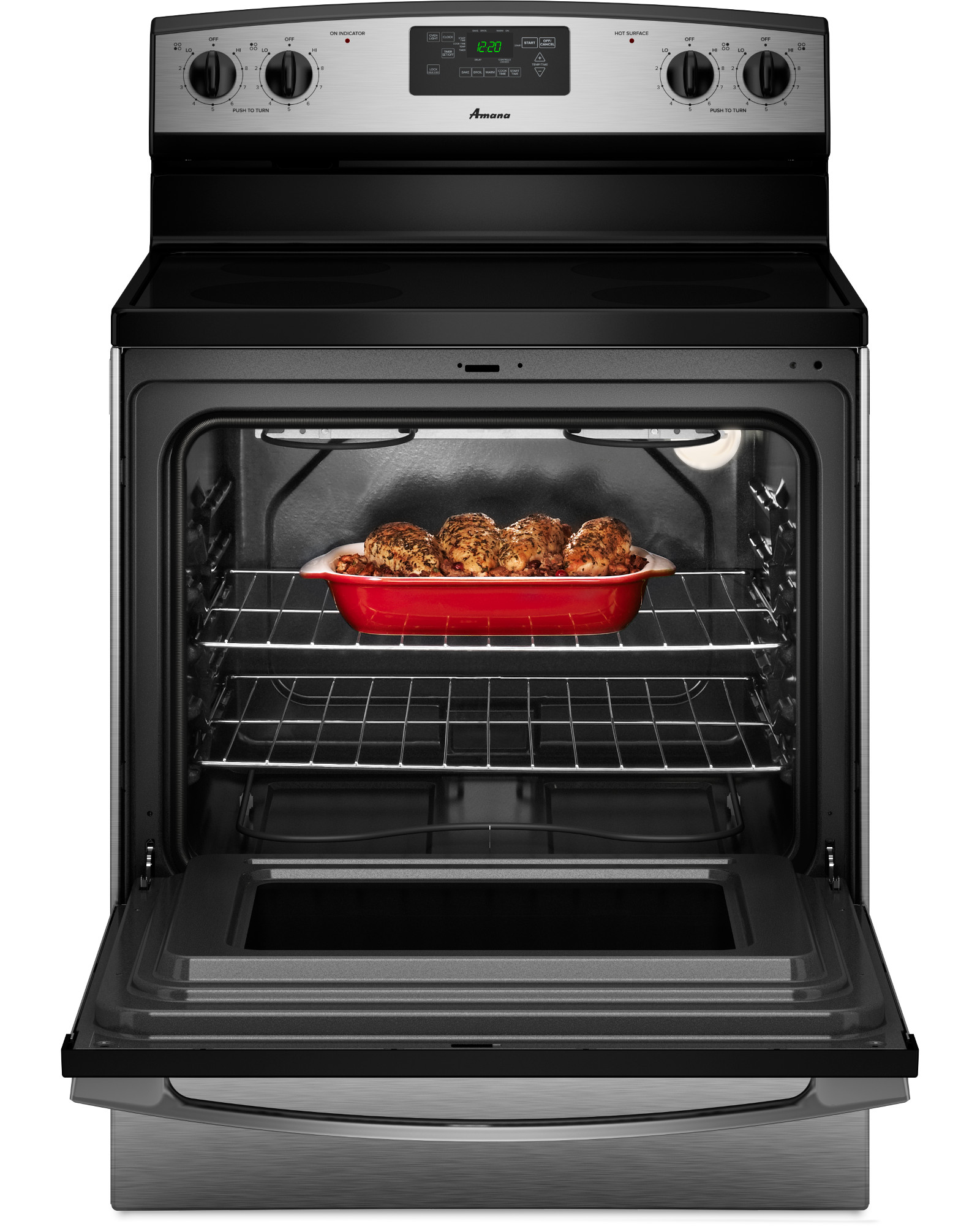 National Brand 4.8 cu. ft. Freestanding Electric Range - Stainless Steel