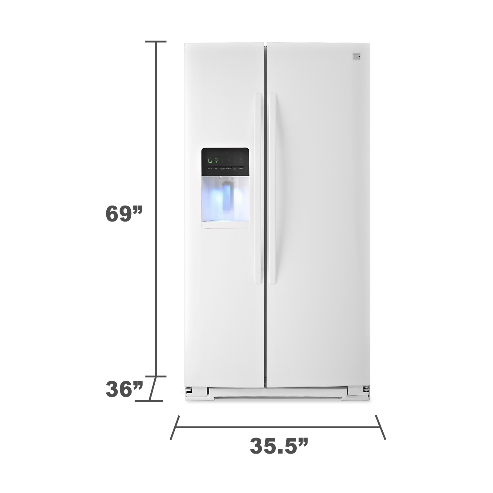 Kenmore 51132 26 cu. ft. Side-by-Side Refrigerator - White