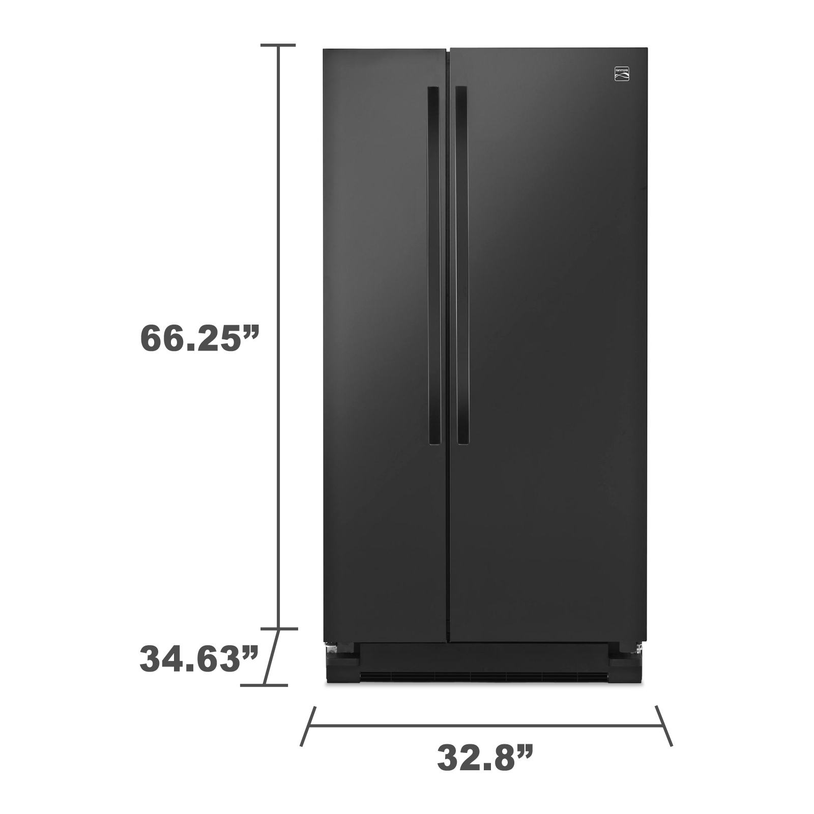 Kenmore 41129 21.5 cu. ft. Side-by-Side Refrigerator - Black