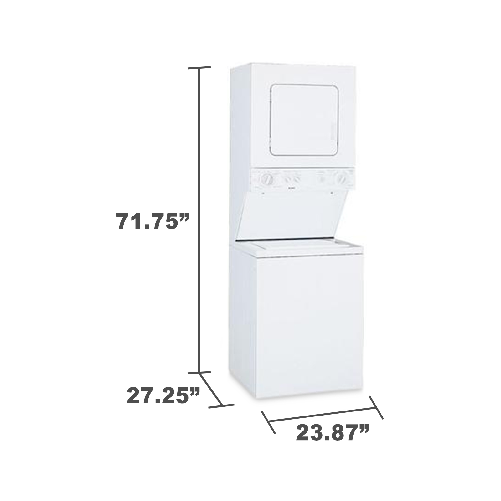 """Kenmore 24"""" Laundry Center w/ Electric Dryer - White"""
